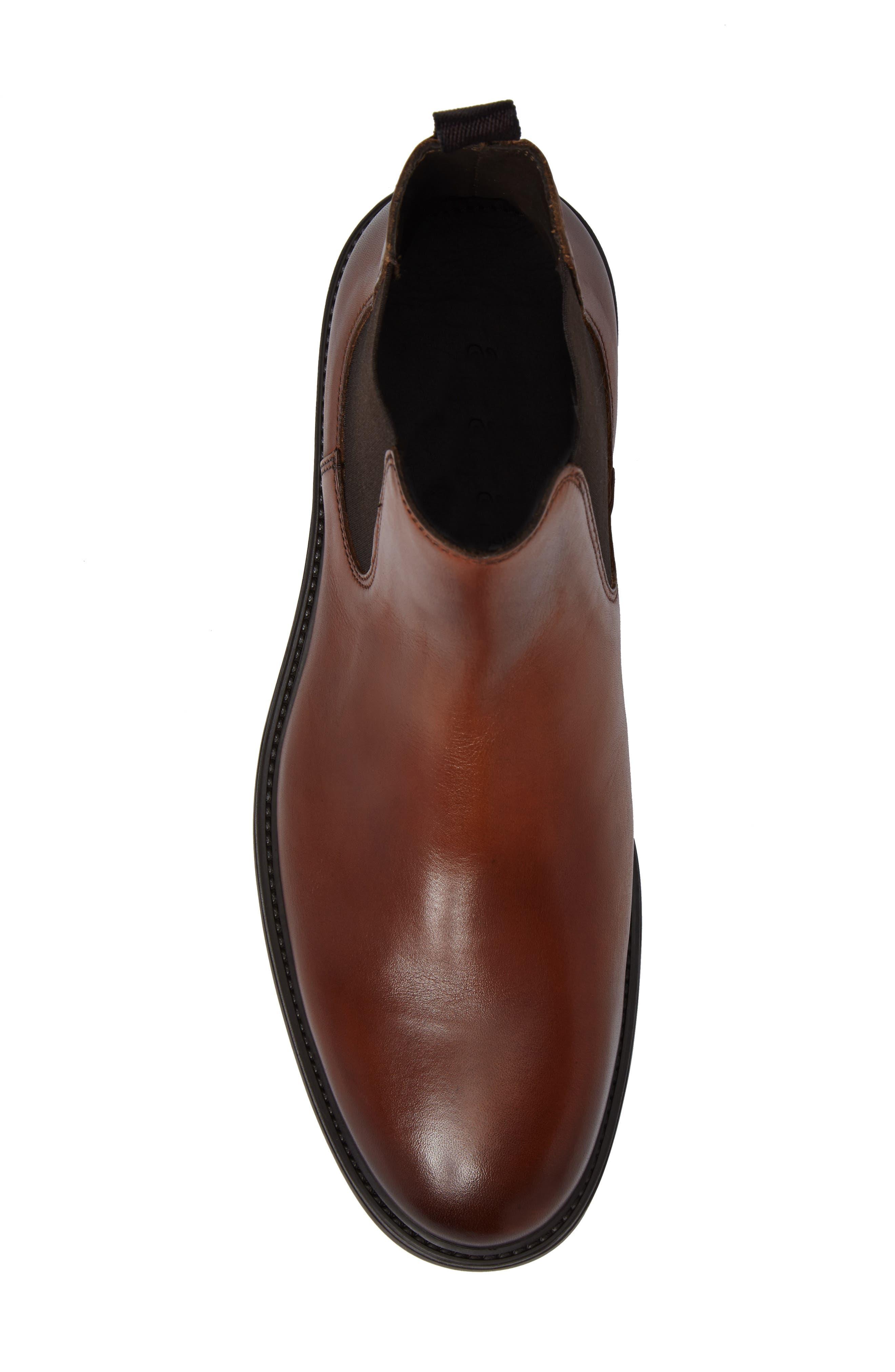 Chelsea Boot,                             Alternate thumbnail 5, color,                             Caramel
