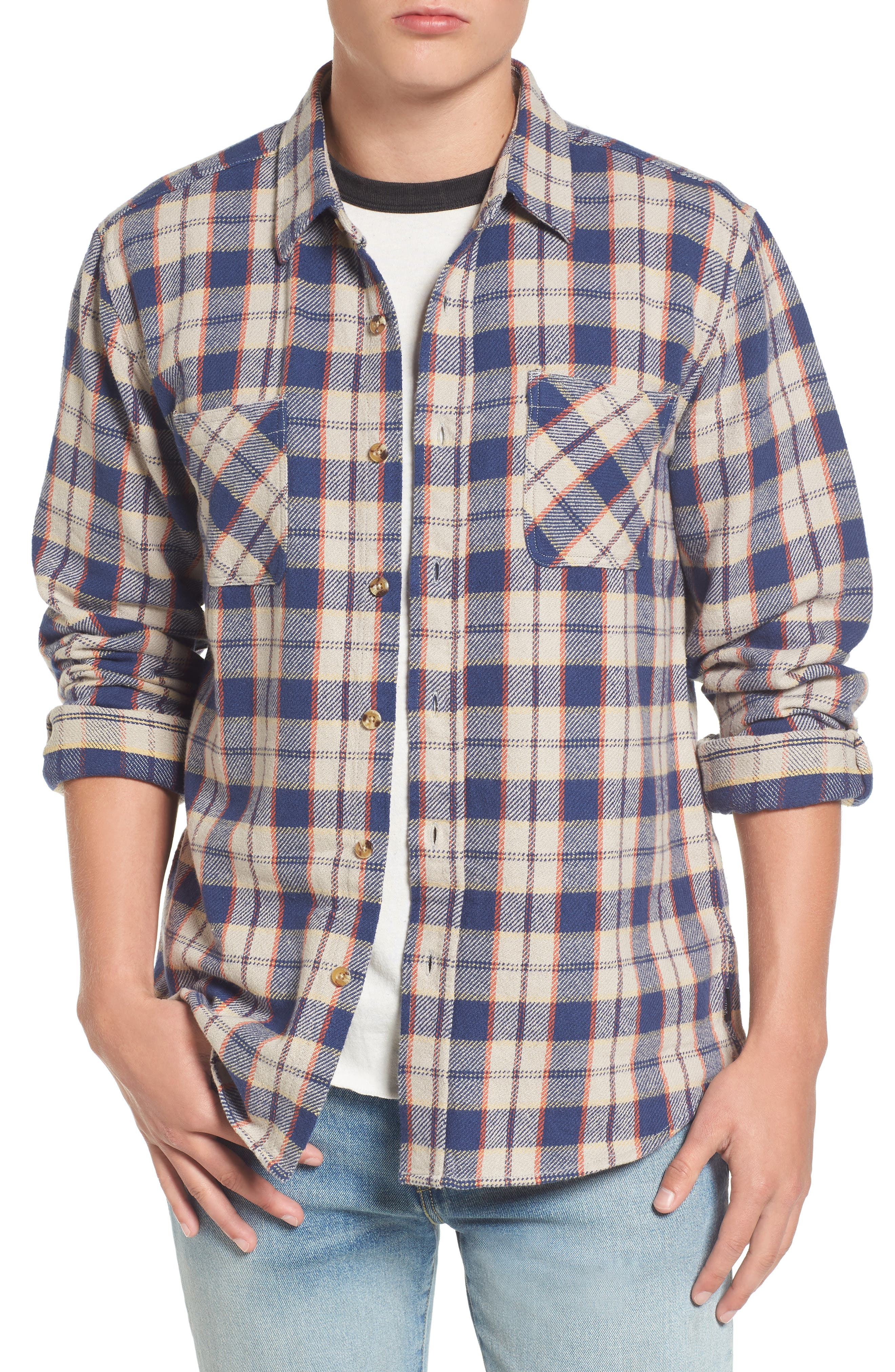 Brixton Hoffman Plaid Flannel Shirt
