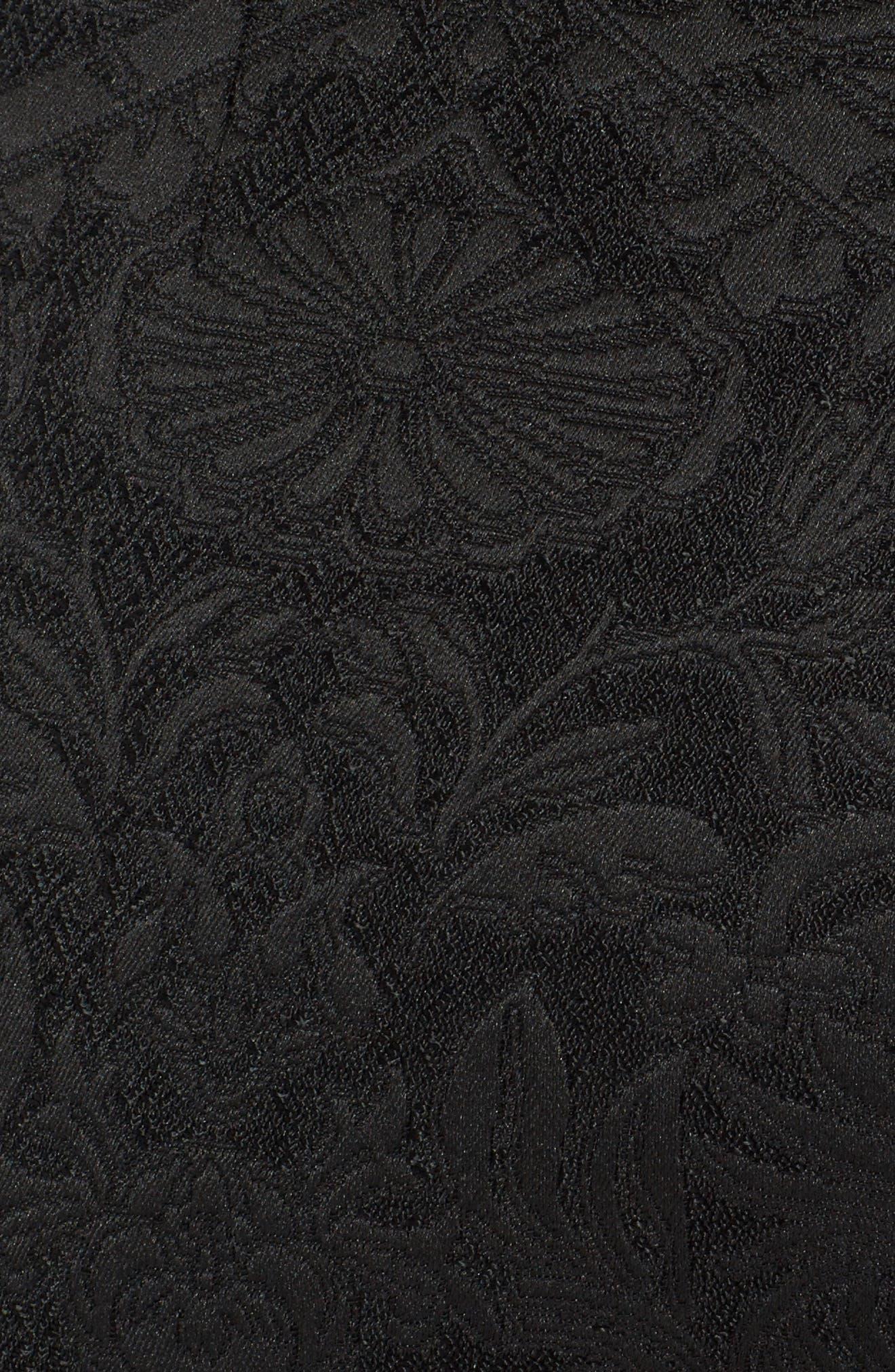 Stretch Jacquard Leggings,                             Alternate thumbnail 5, color,                             Black