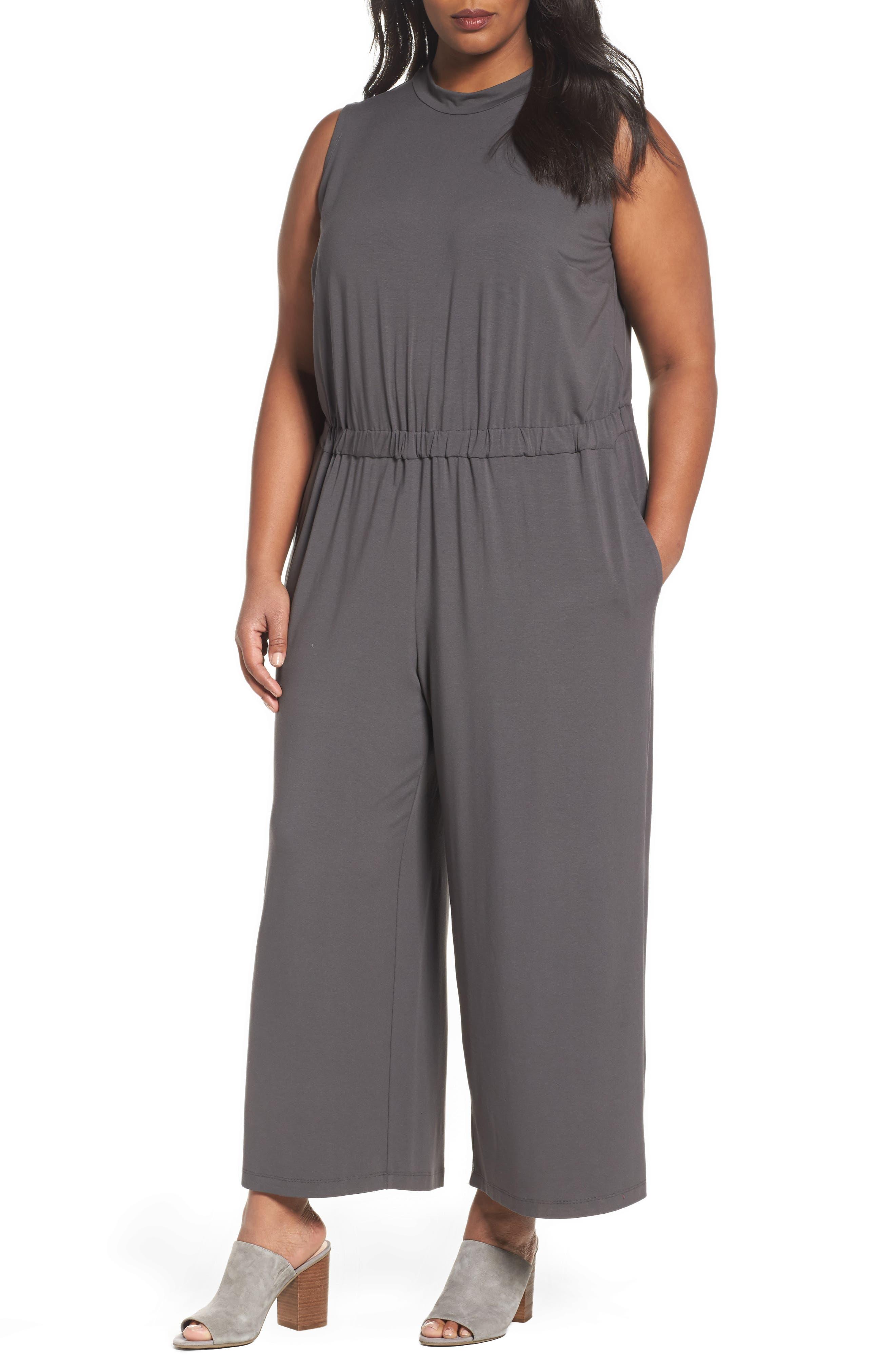 Eileen Fisher Jersey Jumpsuit (Plus Size)