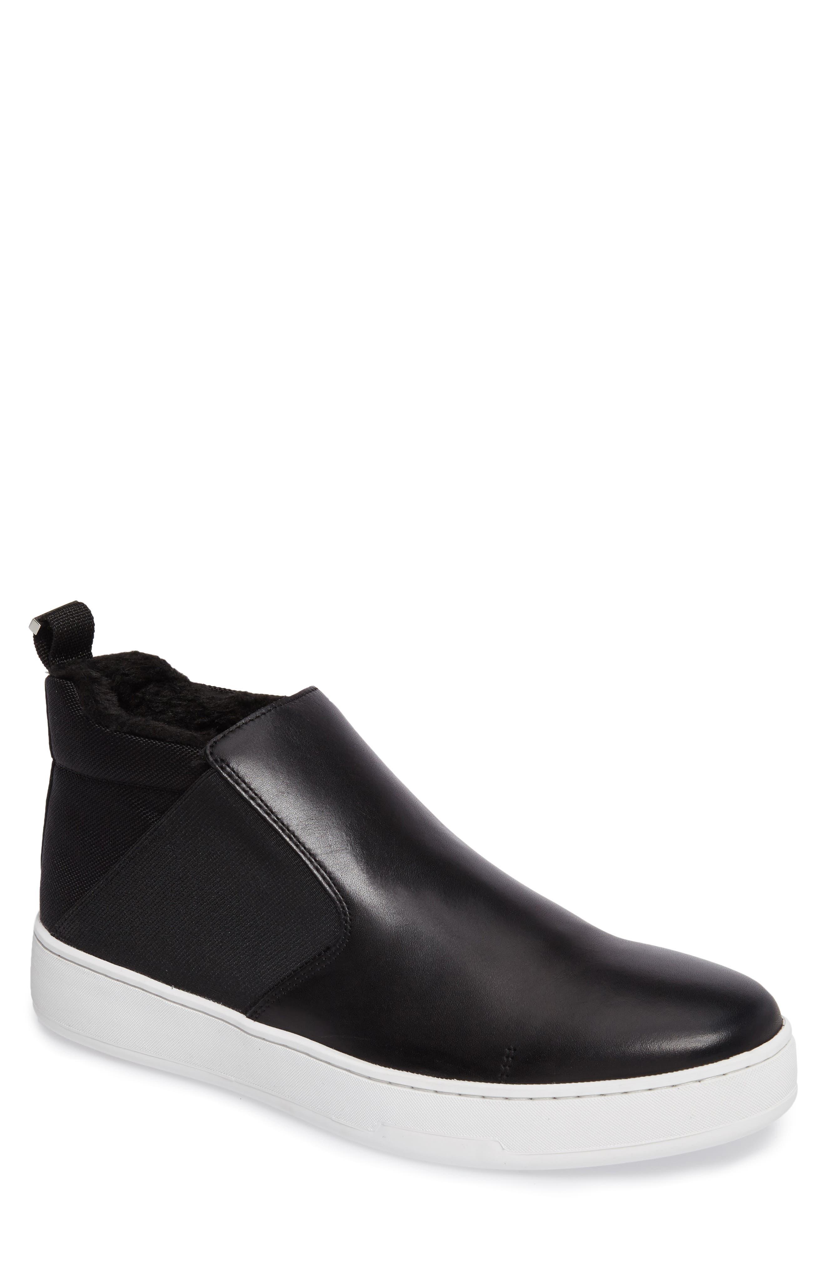 Noble Slip-On,                             Main thumbnail 1, color,                             Black Leather