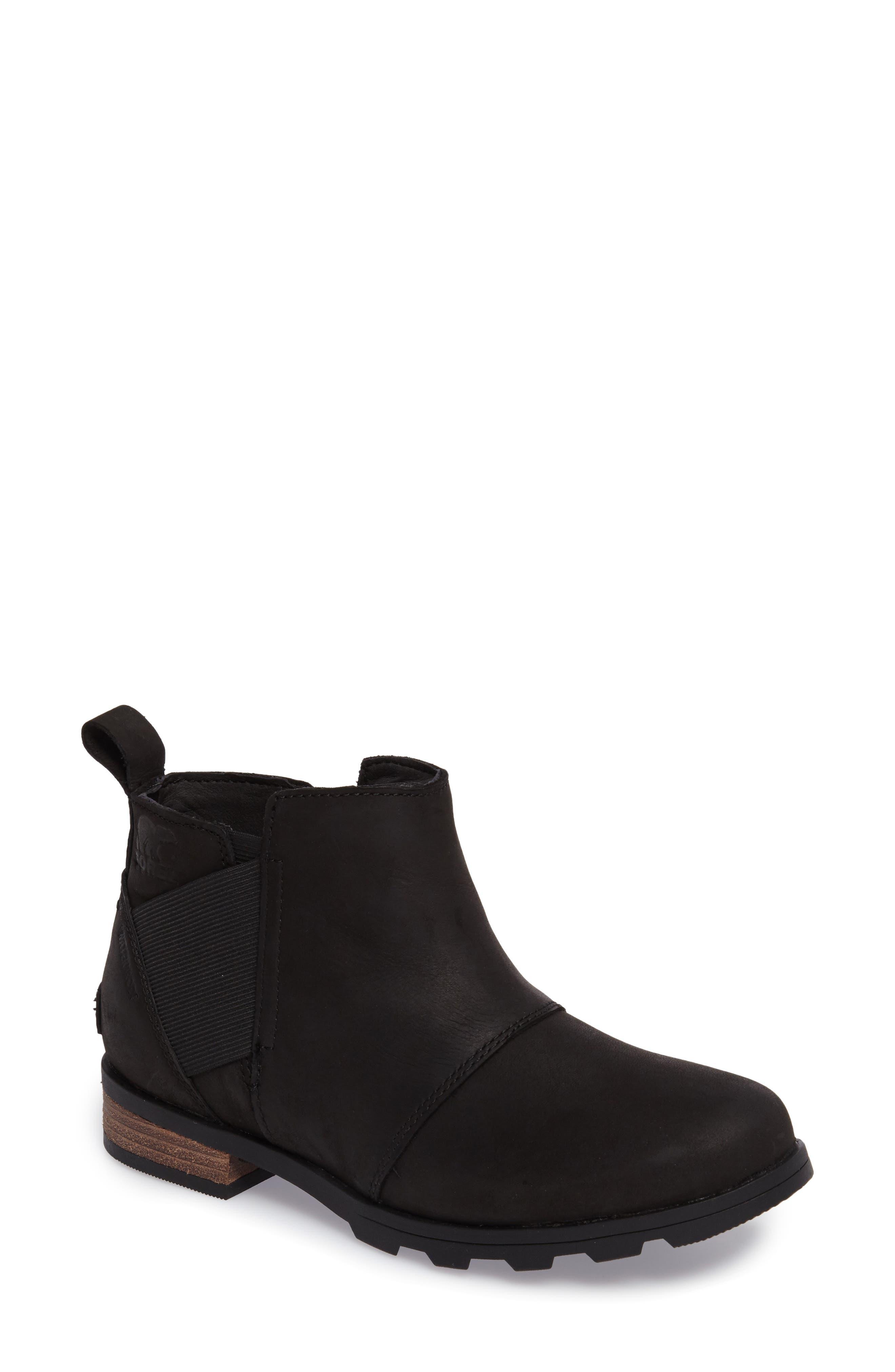 Emelie Waterproof Chelsea Boot,                         Main,                         color, Black/ Black