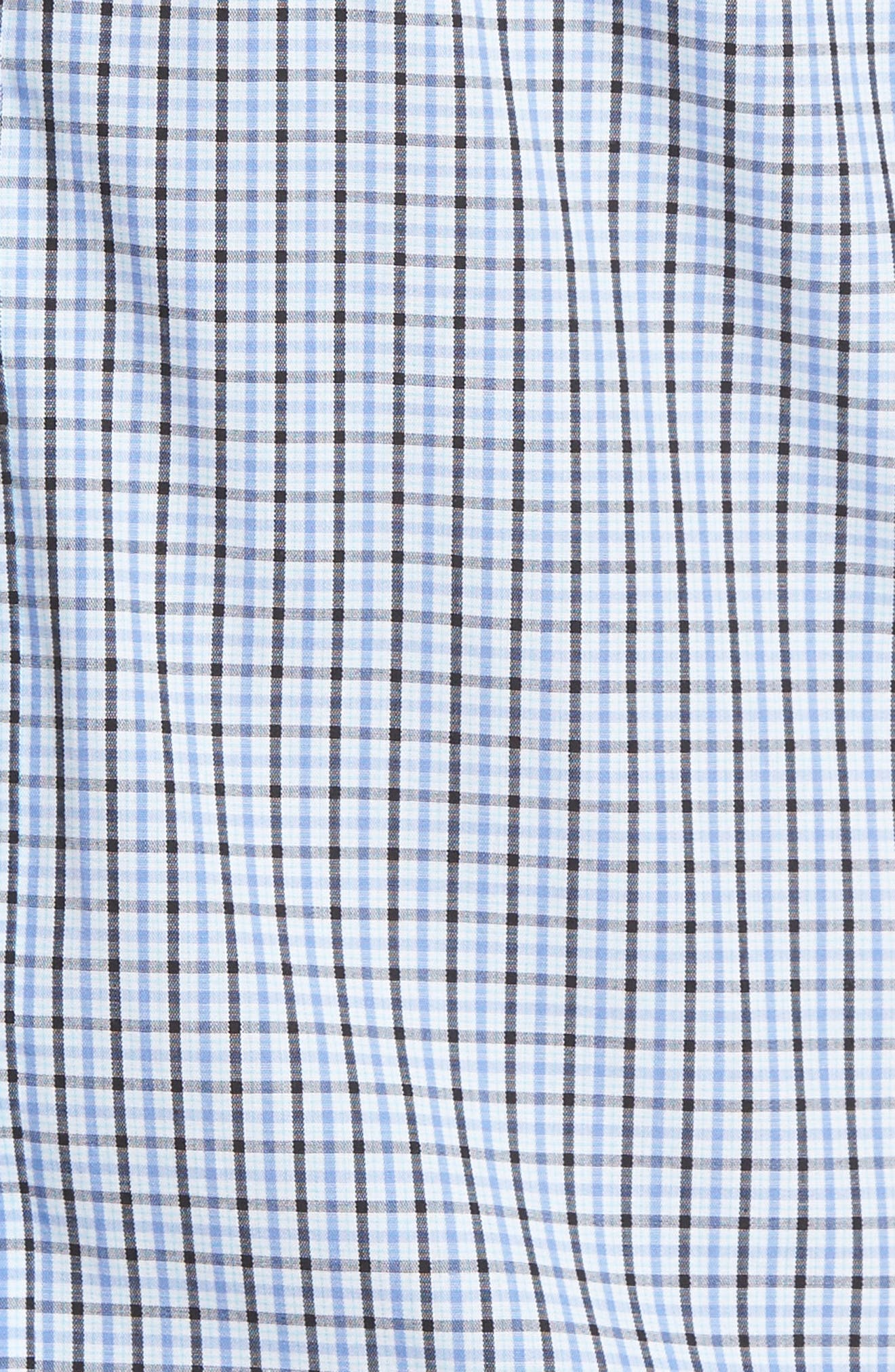 Easton Check Non-Iron Sport Shirt,                             Alternate thumbnail 5, color,                             Wisteria