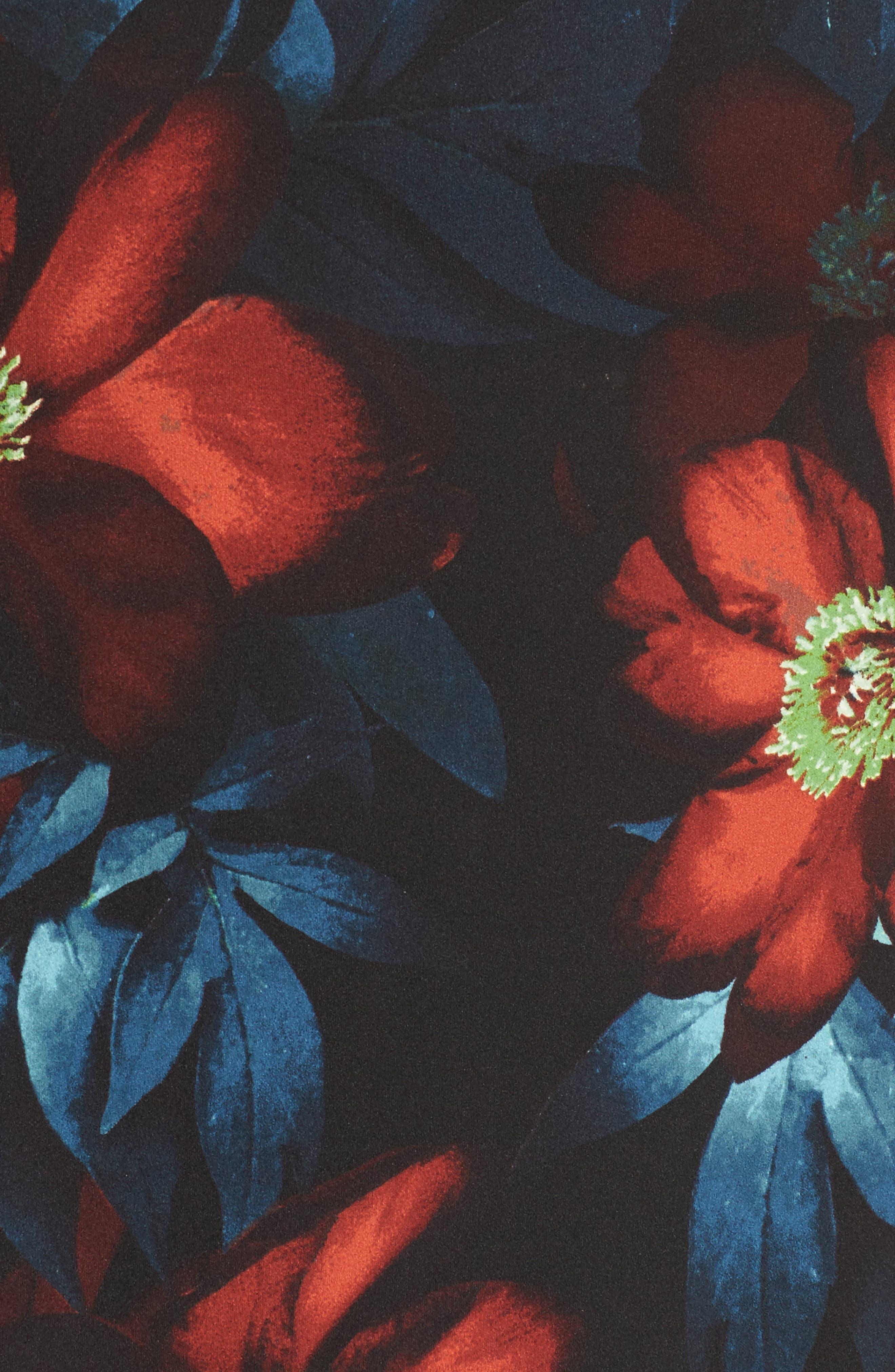 Alternate Image 5  - London Times Cold Shoulder Floral A-Line Dress (Plus Size)