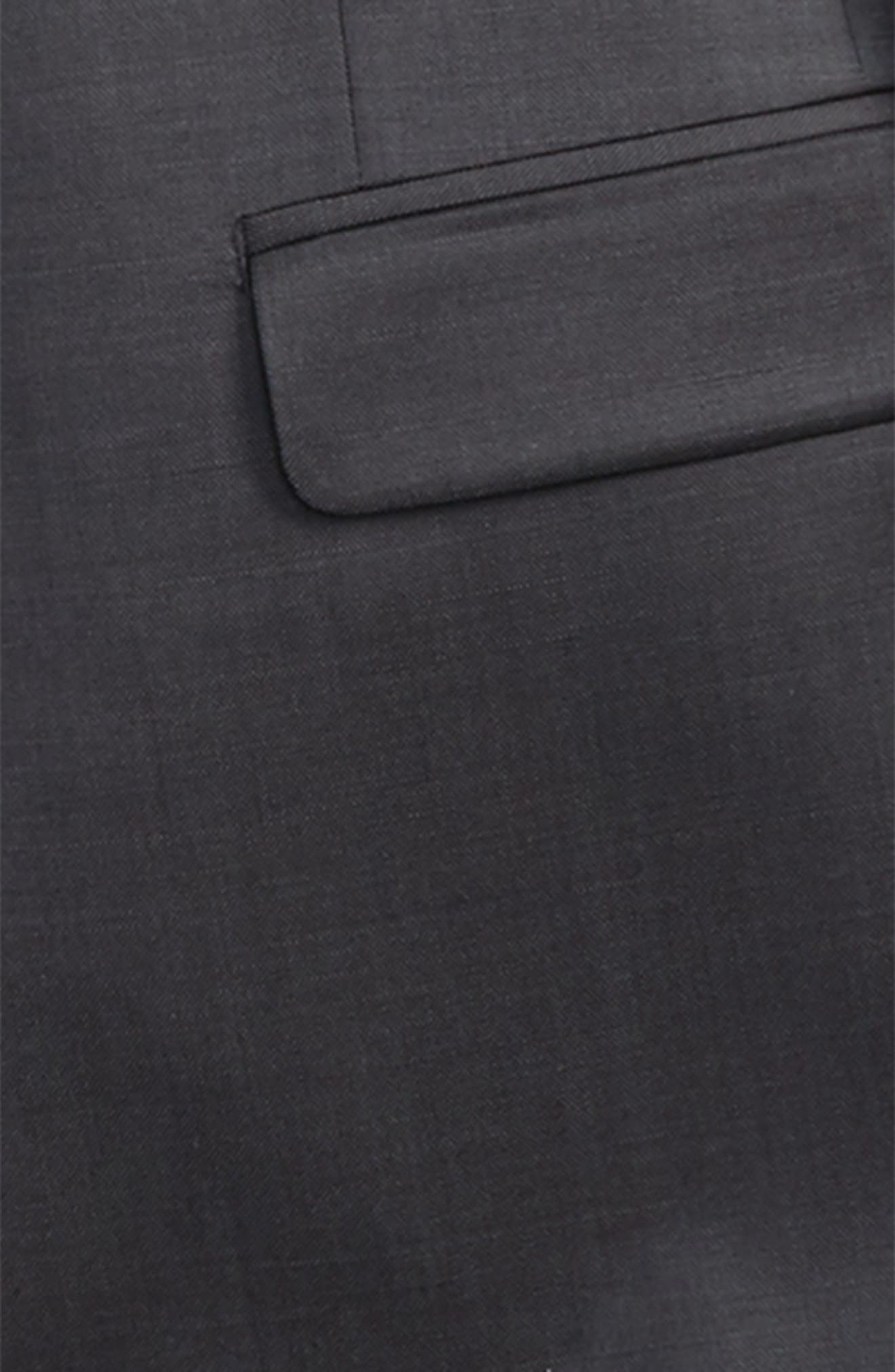 Worsted Wool Suit,                             Alternate thumbnail 2, color,                             Grey