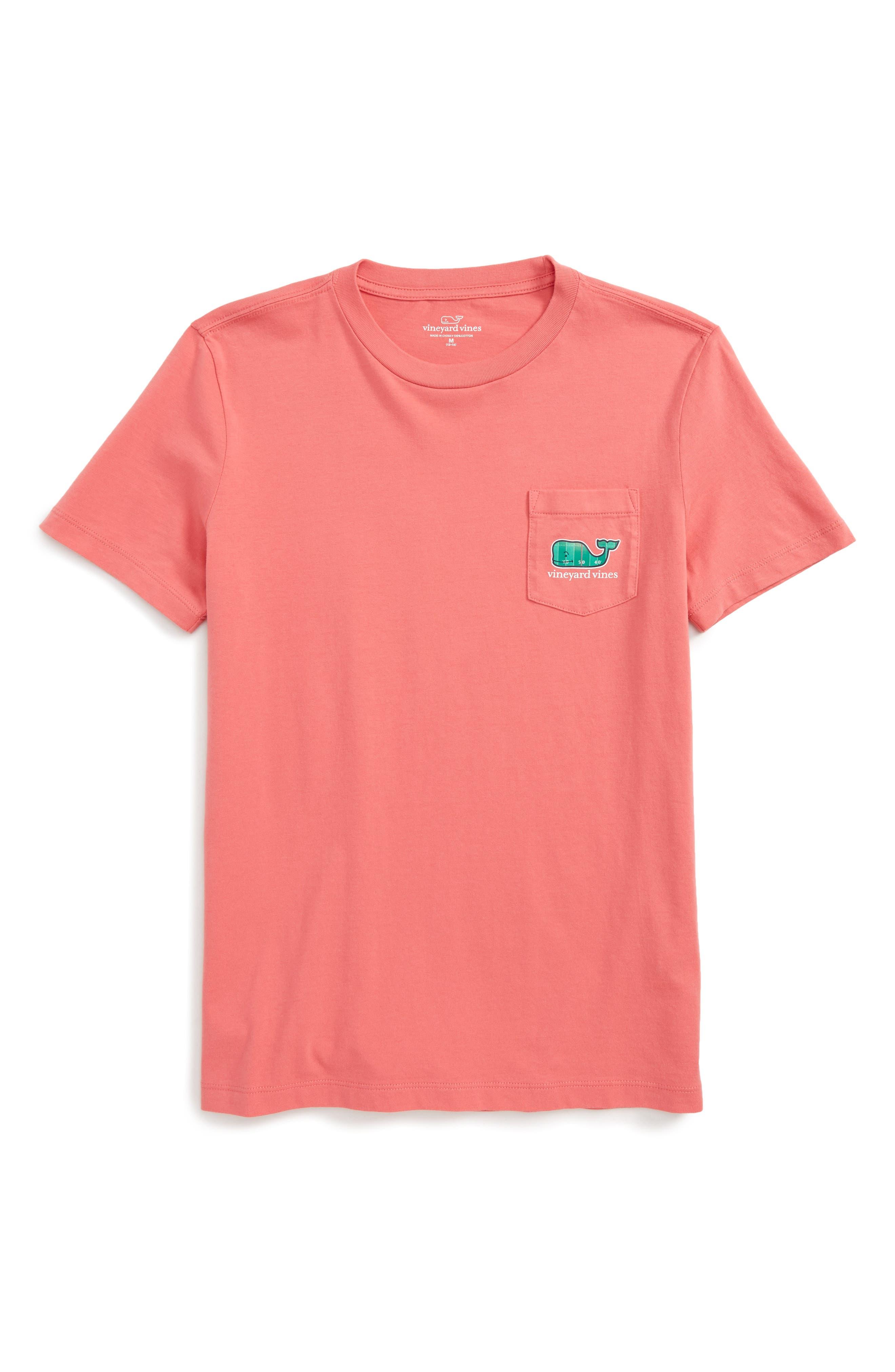 vineyard vines Football Field Whale Pocket T-Shirt (Big Boys)