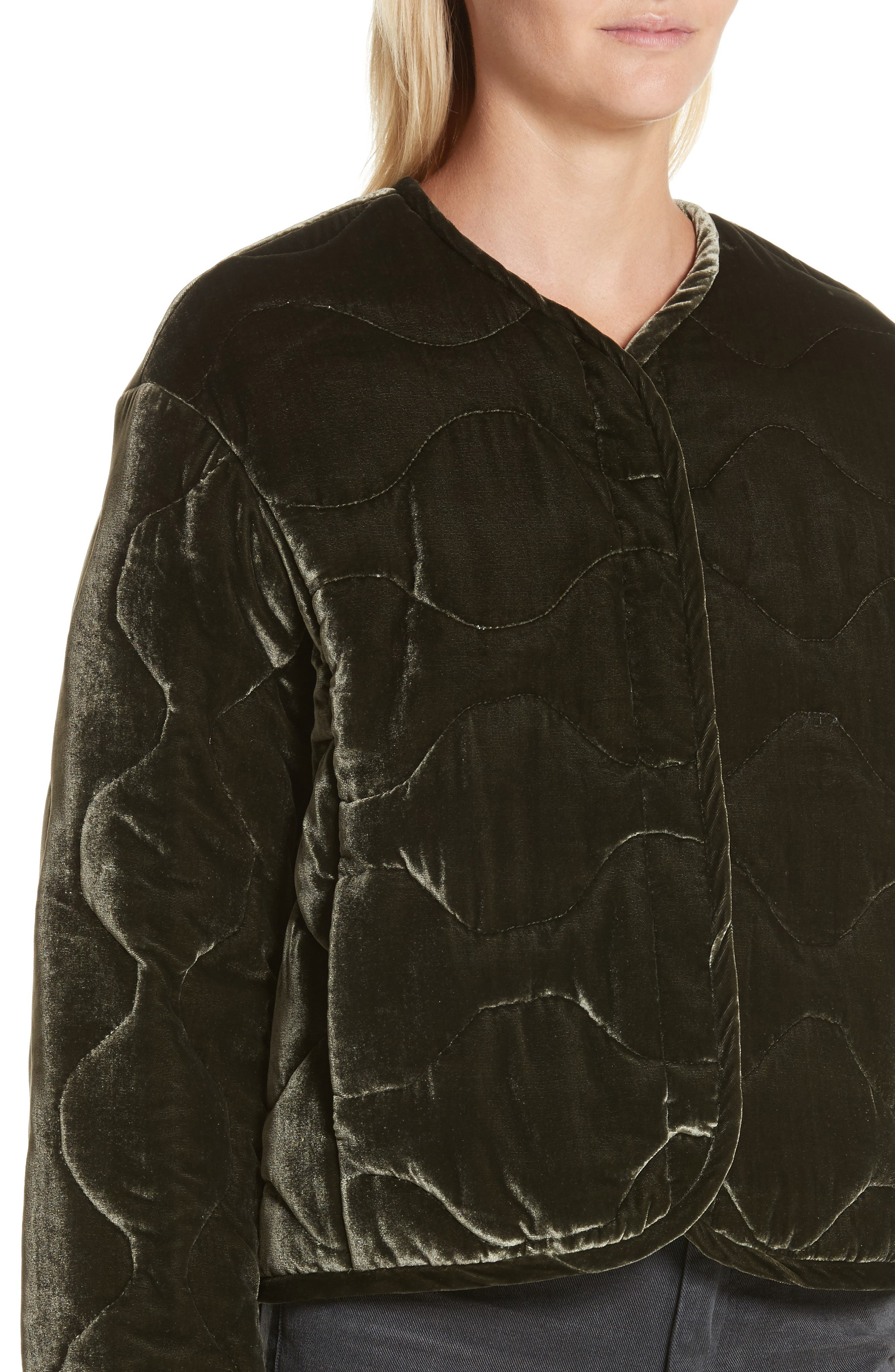Alternate Image 5  - Rebecca Taylor Quilted Velvet Jacket