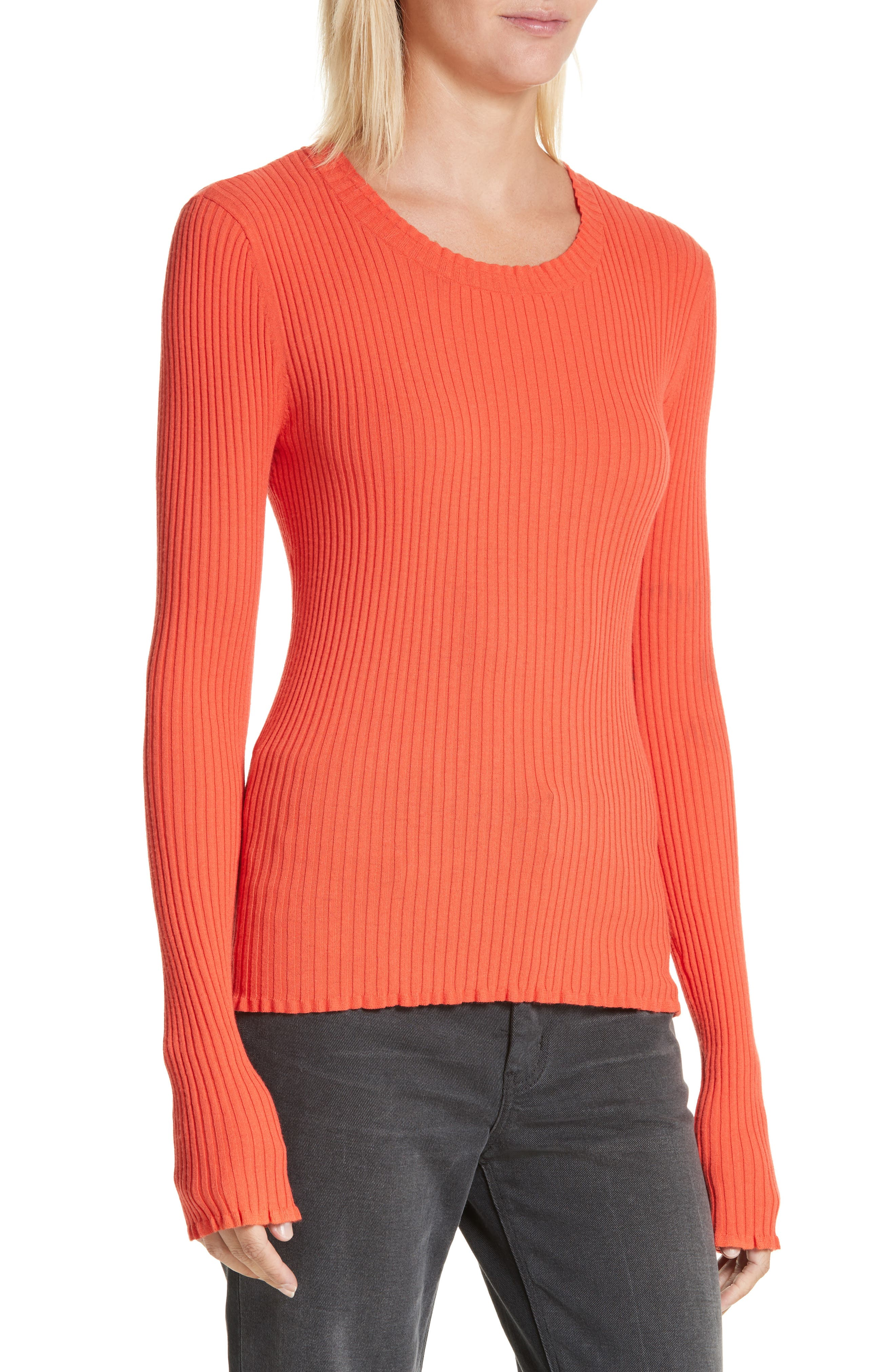 Rebecca Taylor Rib Knit Scoop Neck Sweater