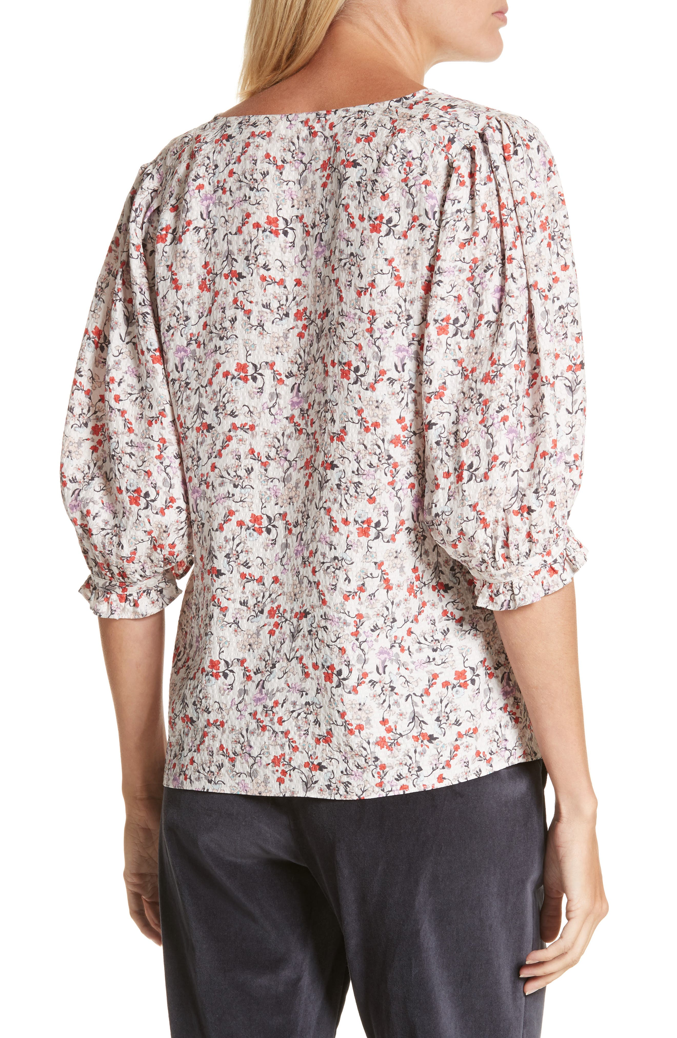 Alternate Image 2  - Rebecca Taylor Lyra Floral Silk Top