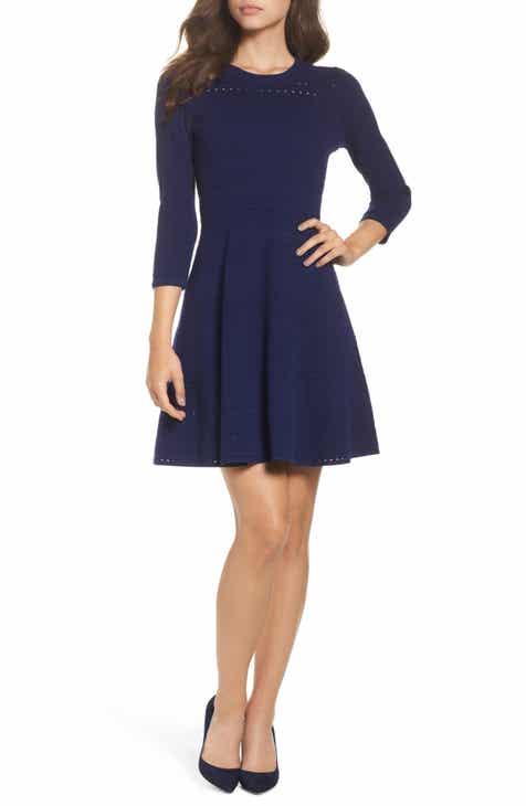 Women S Blue Fit Amp Flare Dresses Nordstrom