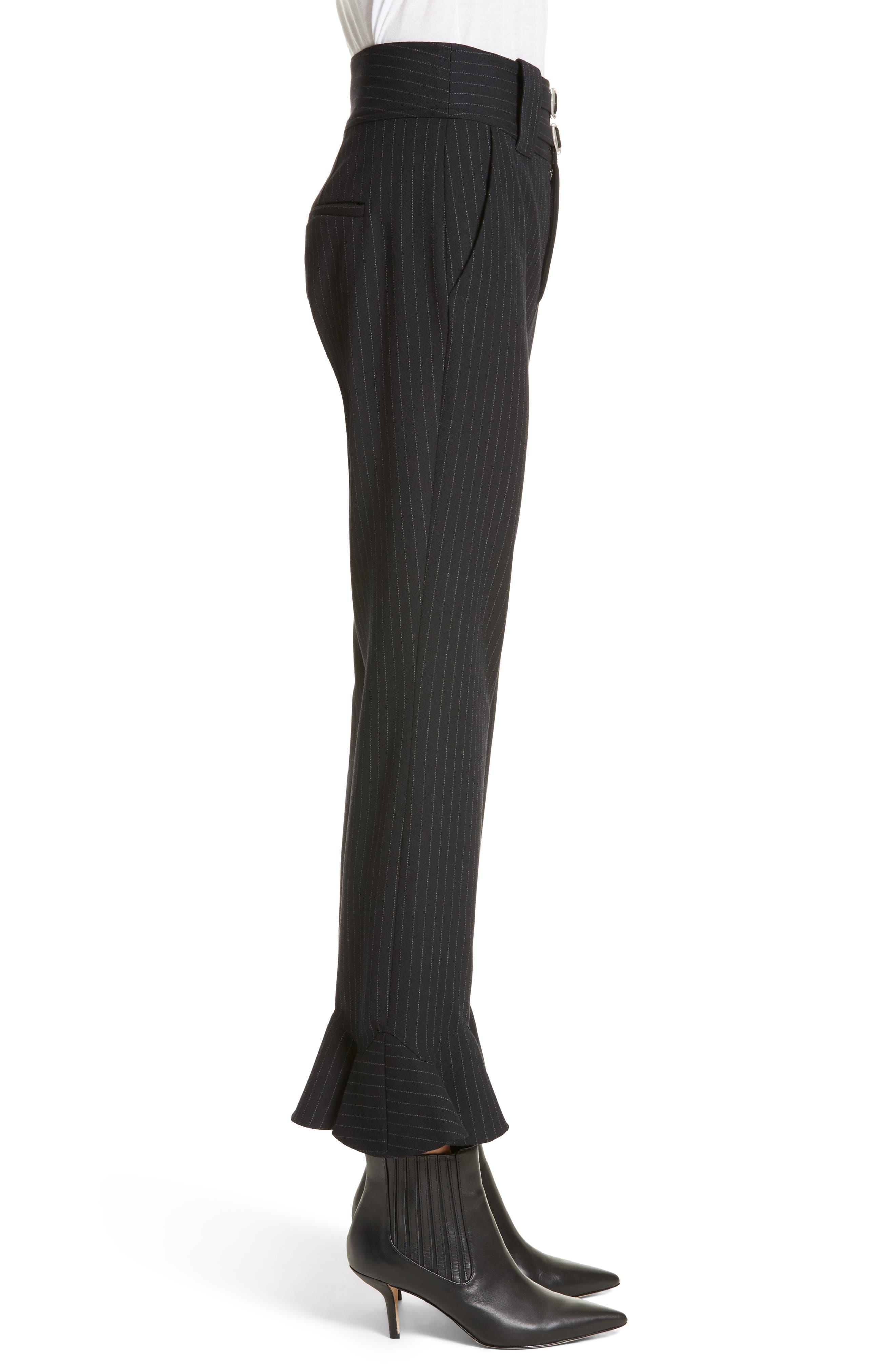 Alternate Image 3  - Rebecca Taylor Pinstripe Ruffle Pants