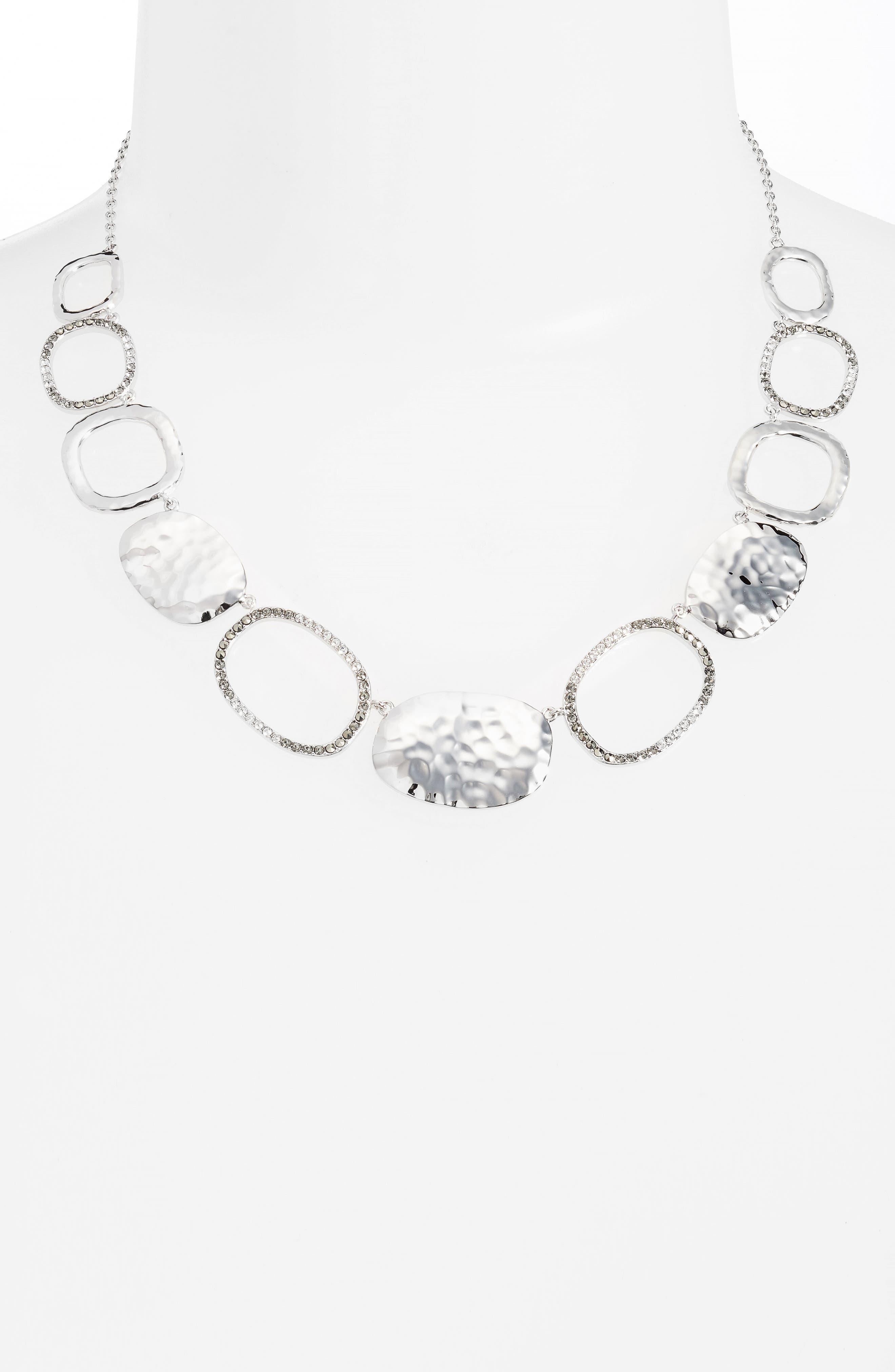 Collar Necklace,                             Alternate thumbnail 2, color,                             Silver