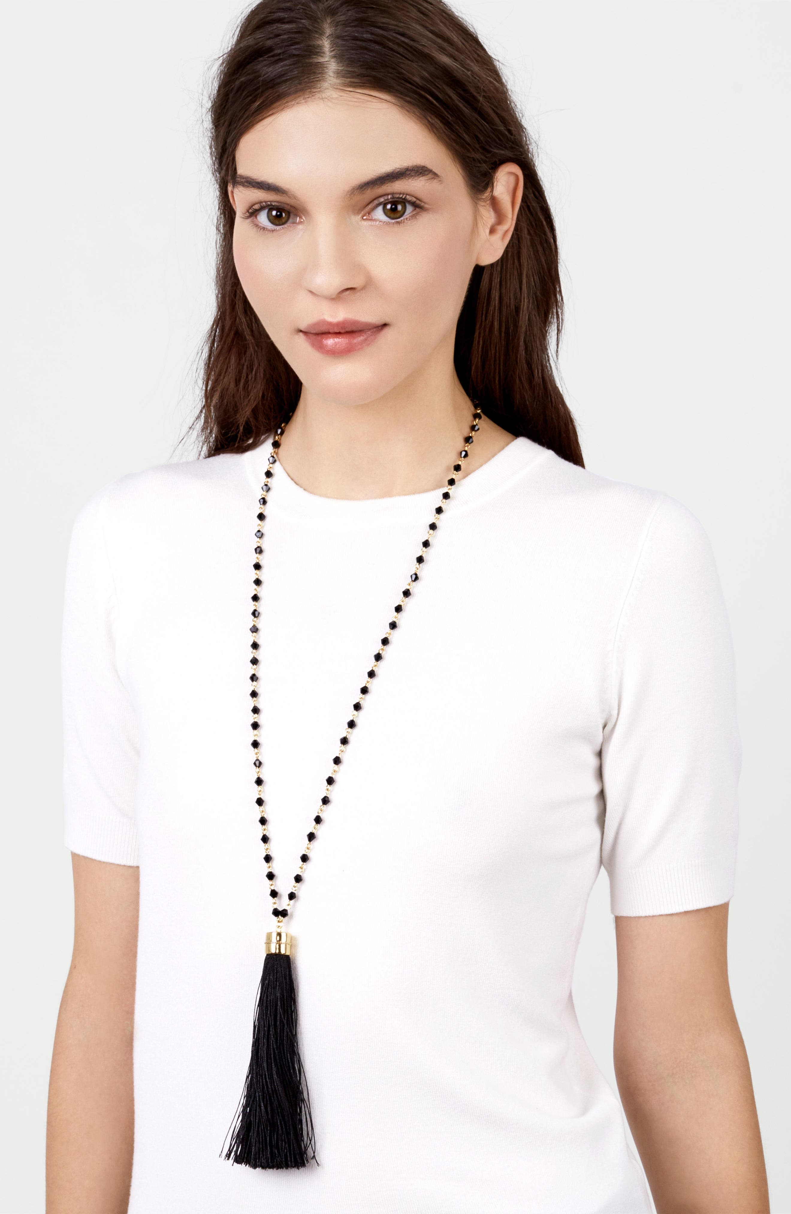 Alternate Image 3  - BaubleBar Tassel Necklace