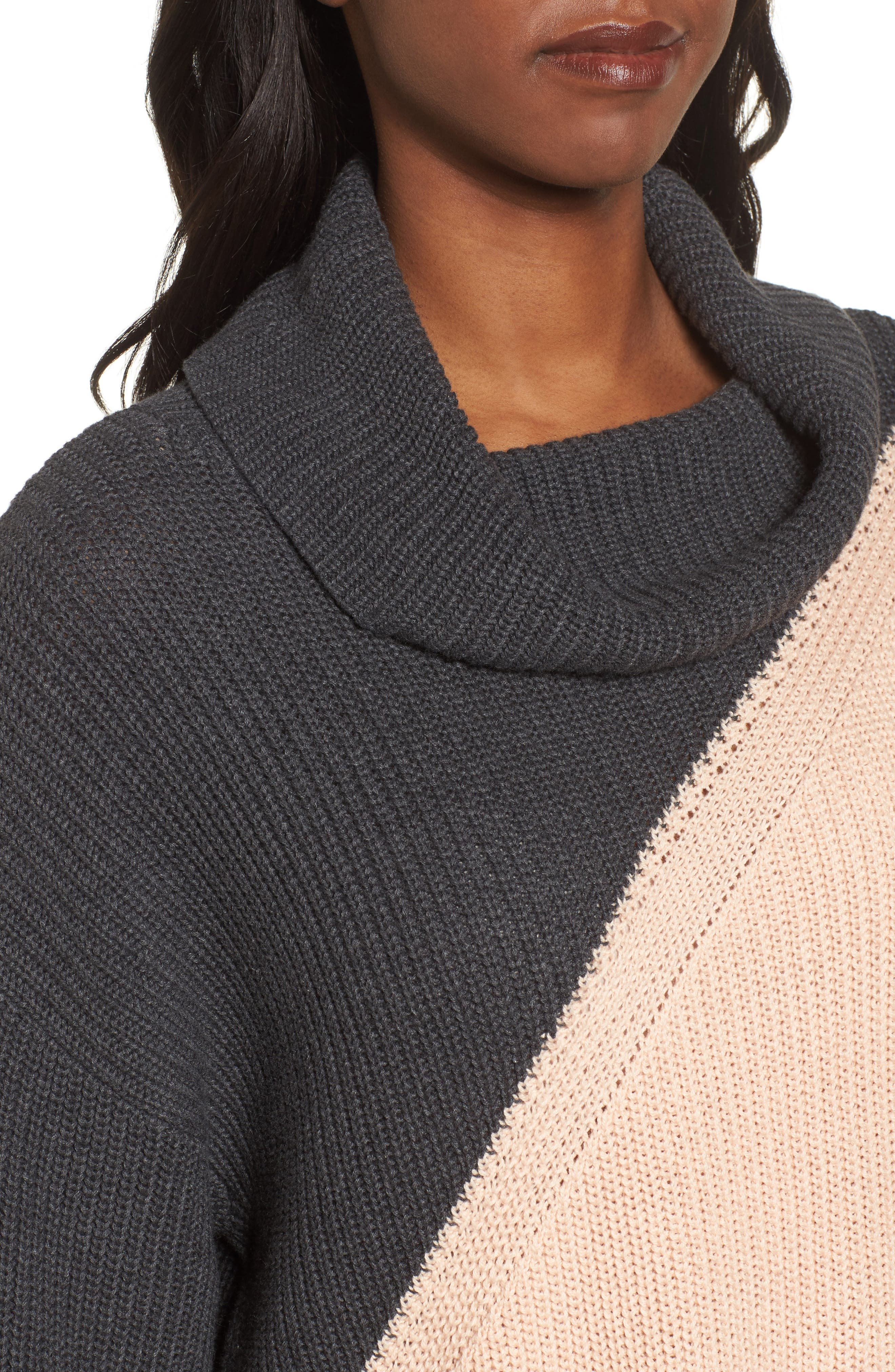 Alternate Image 4  - Chaus Colorblock Cowl Neck Sweater