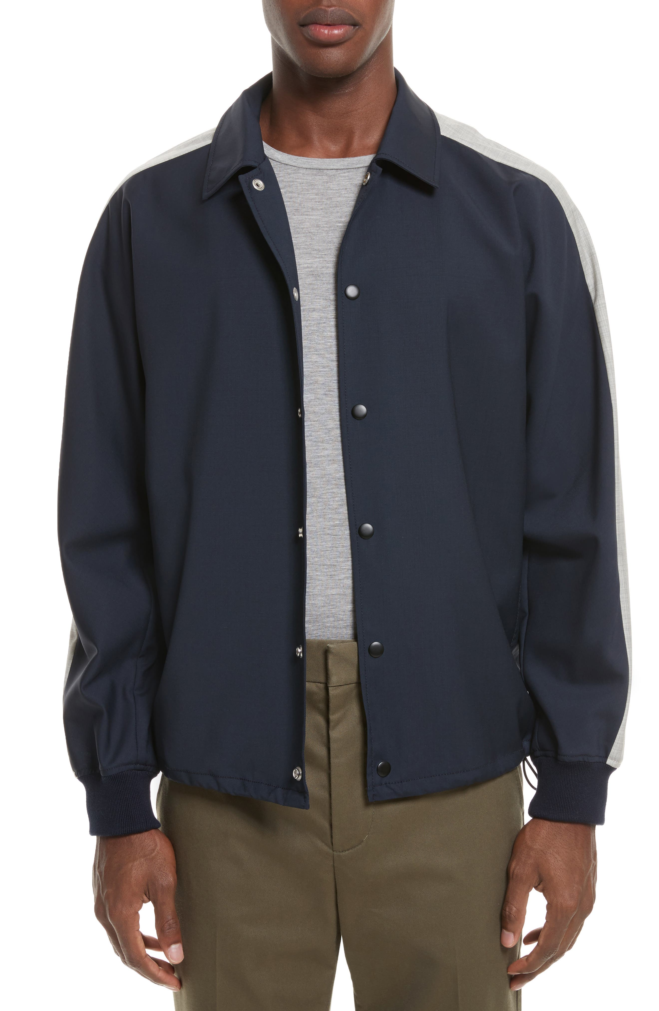 Wool Coachs Jacket,                         Main,                         color, Midnight