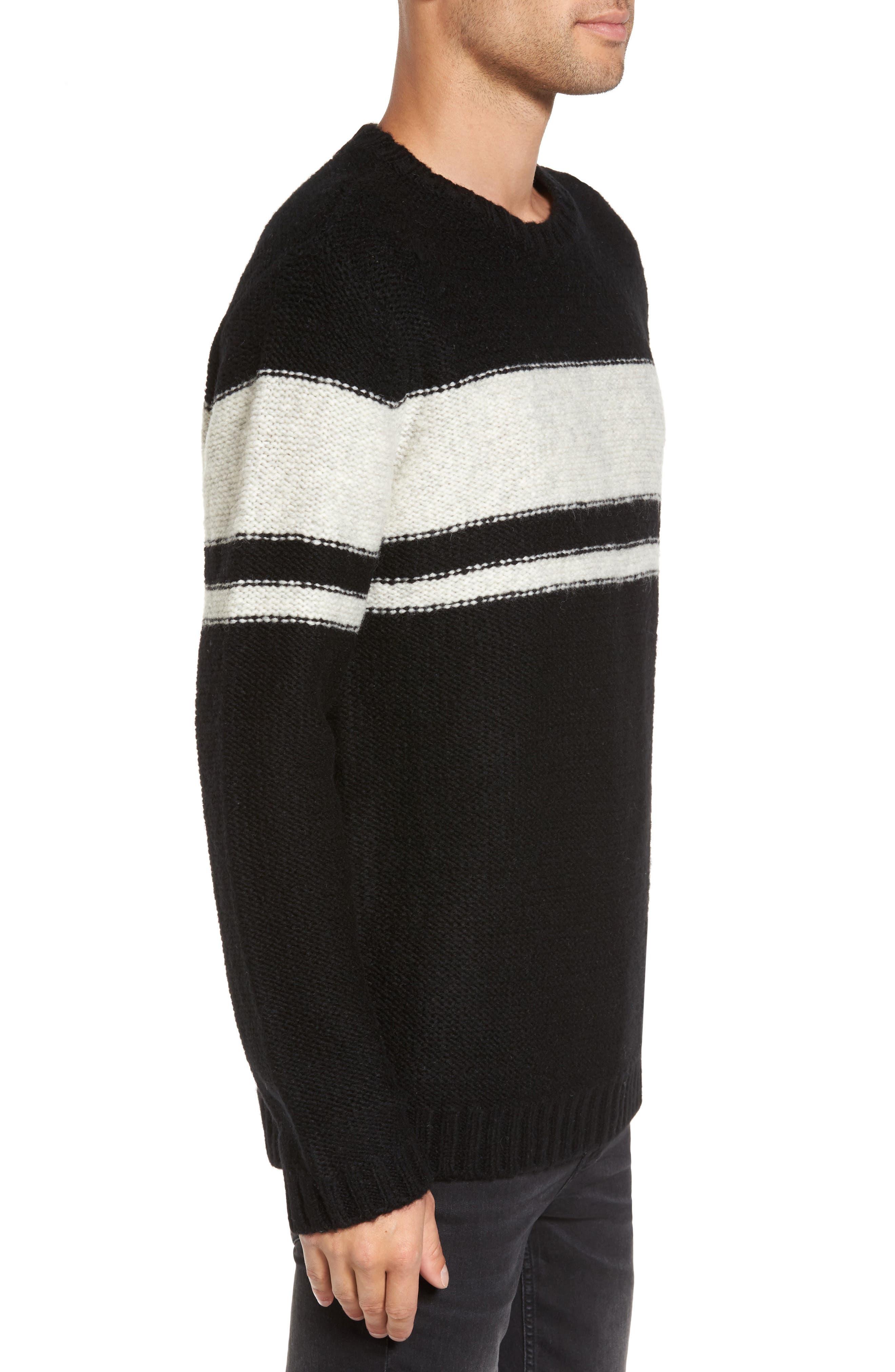 Blume Sweater,                             Alternate thumbnail 3, color,                             Black Boom