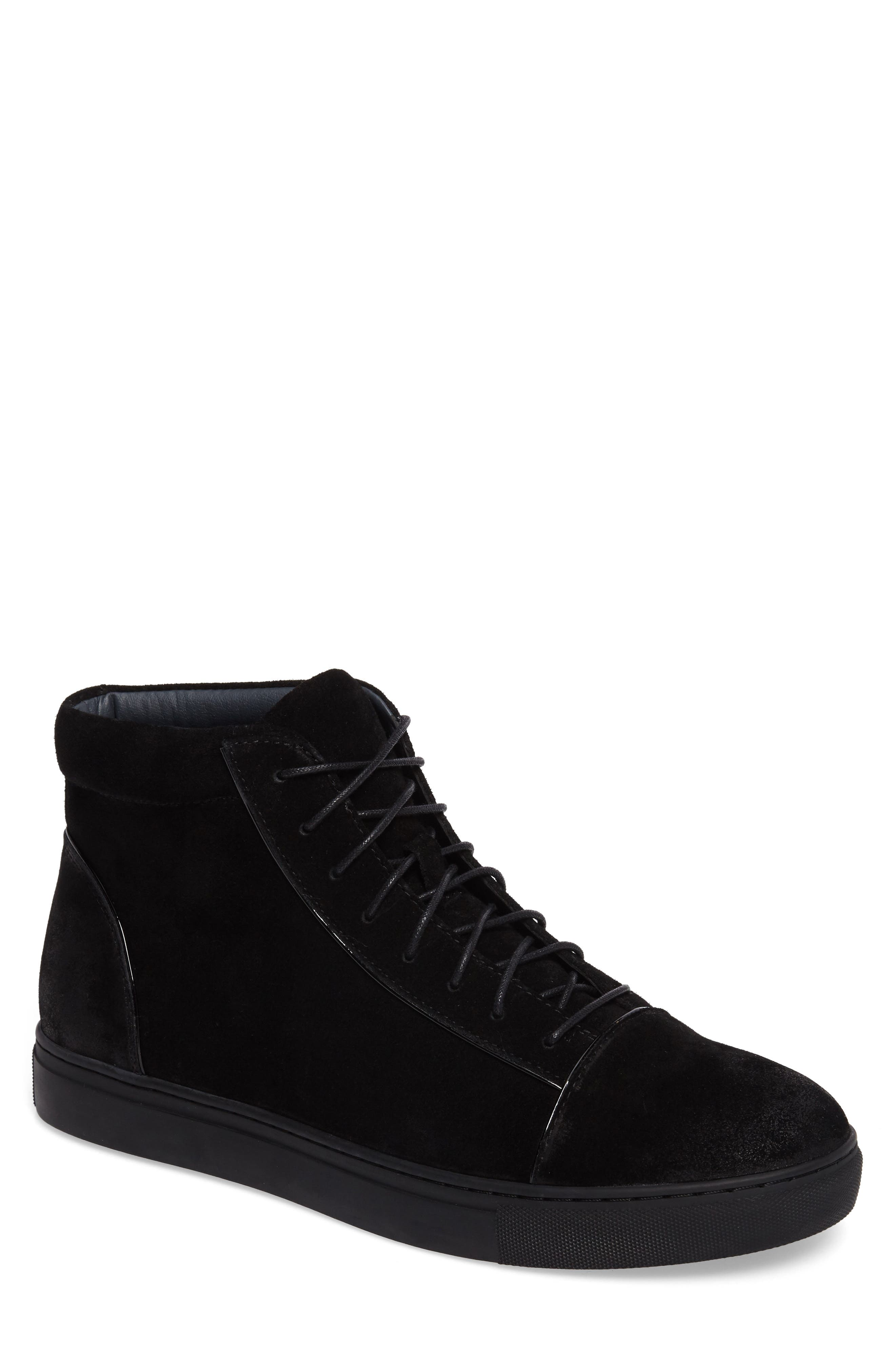 Grundy Sneaker,                             Main thumbnail 1, color,                             Black Suede