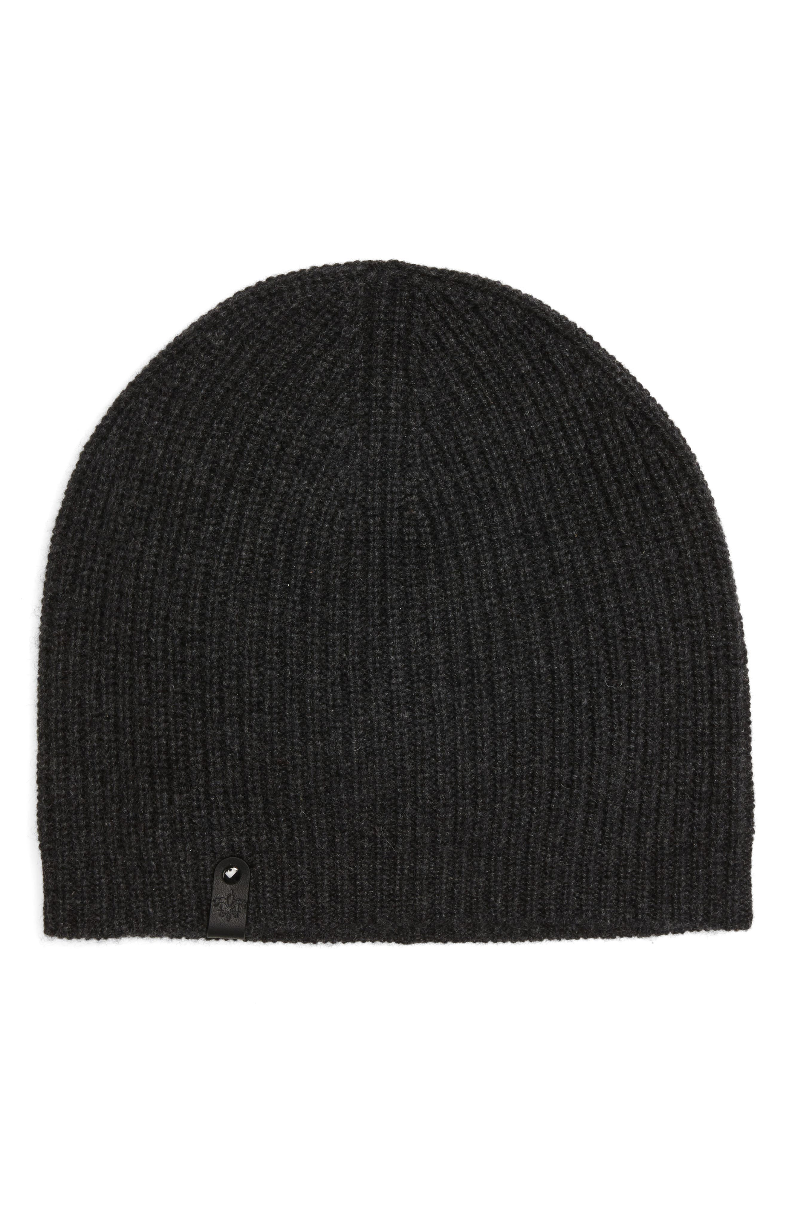 Aaron Cashmere Beanie,                         Main,                         color, Charcoal