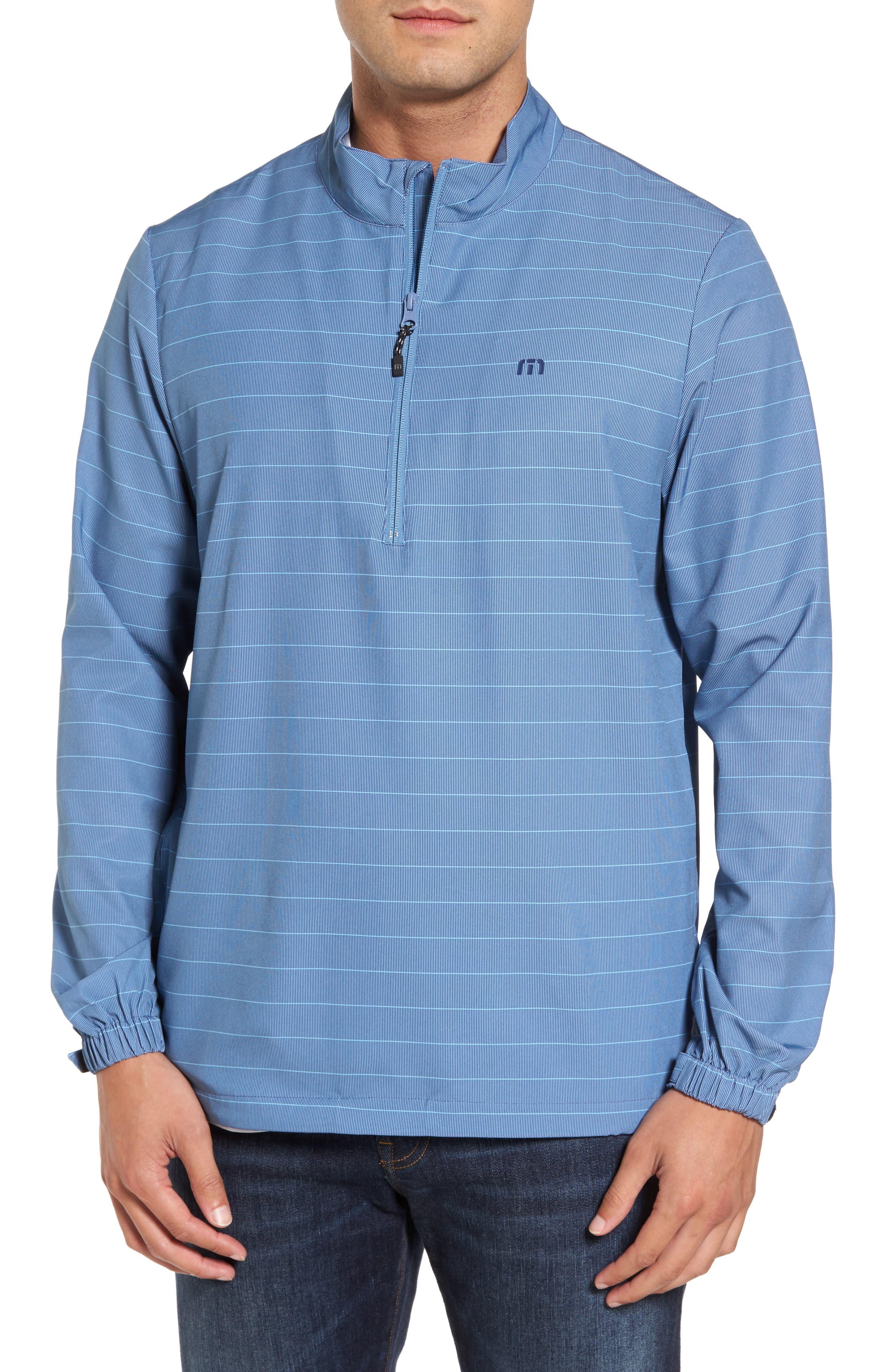 Dubes Quarter Zip Pullover Jacket,                             Main thumbnail 1, color,                             Blue Indigo