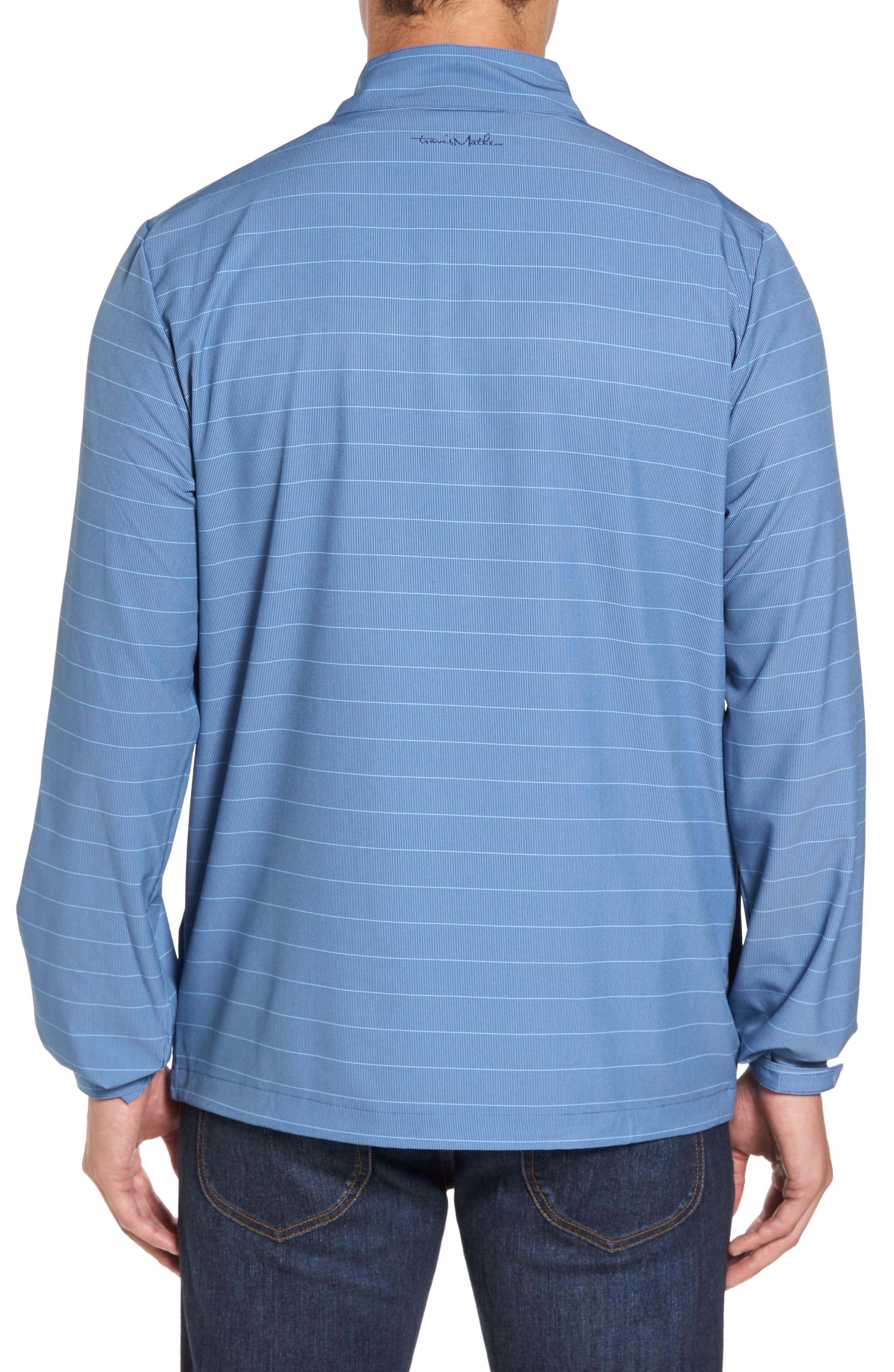 Dubes Quarter Zip Pullover Jacket,                             Alternate thumbnail 2, color,                             Blue Indigo