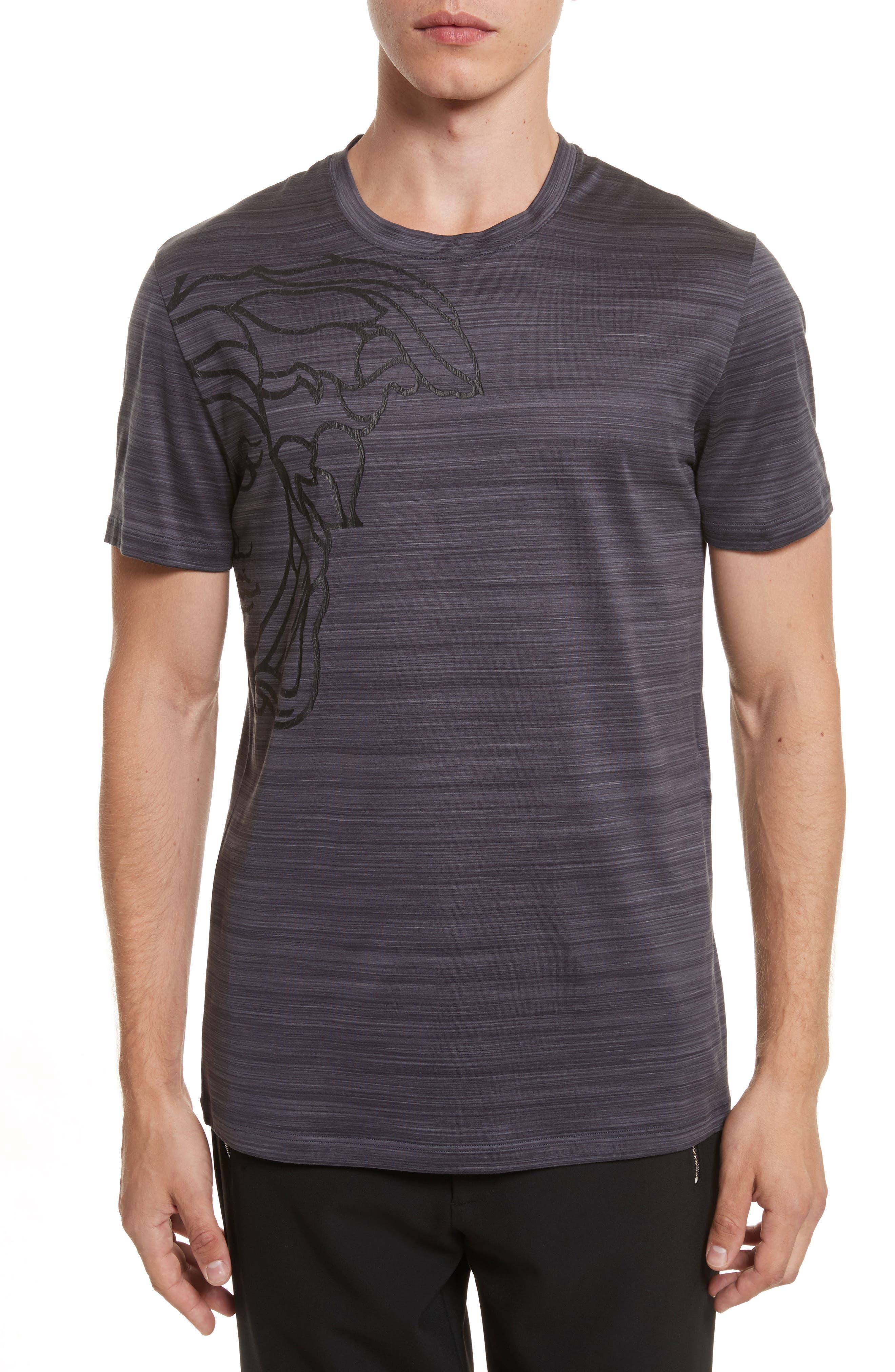 Tonal Stripe Medusa,                         Main,                         color, Black
