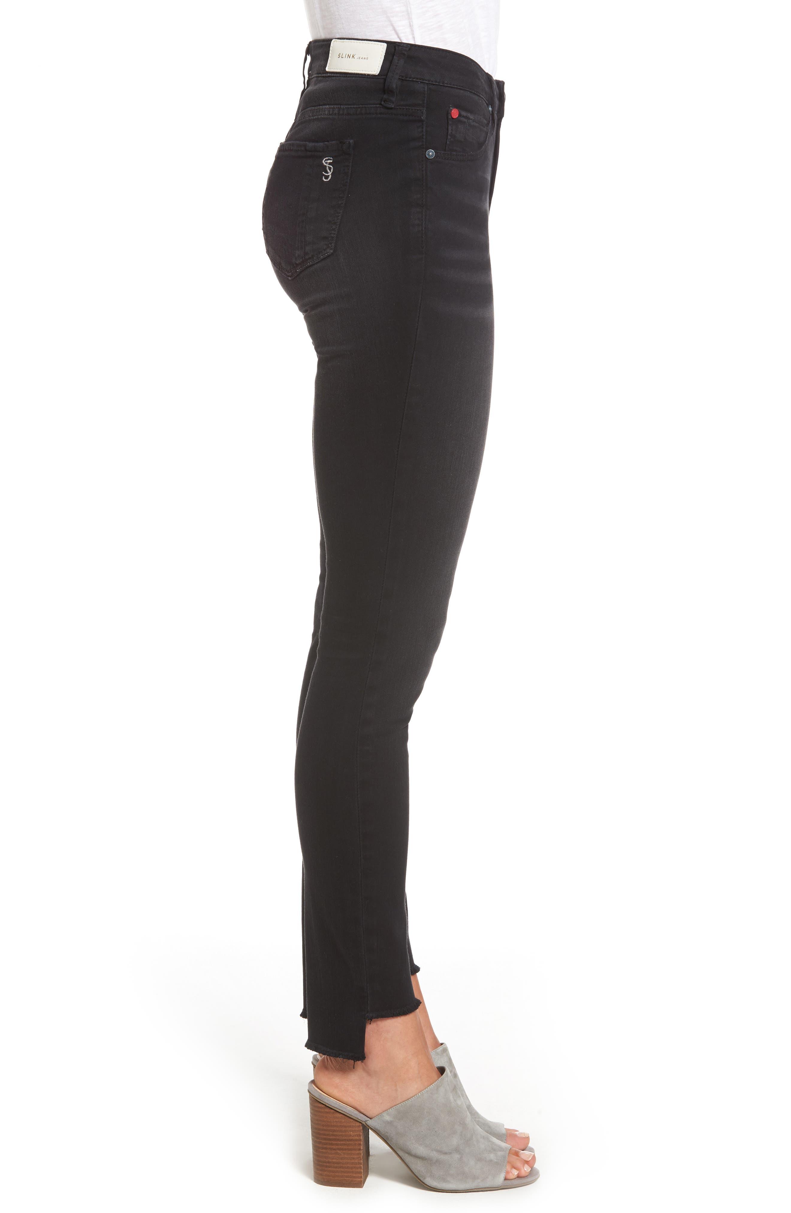 Alternate Image 3  - SLINK Jeans Step Hem Skinny Jeans (Mimi)