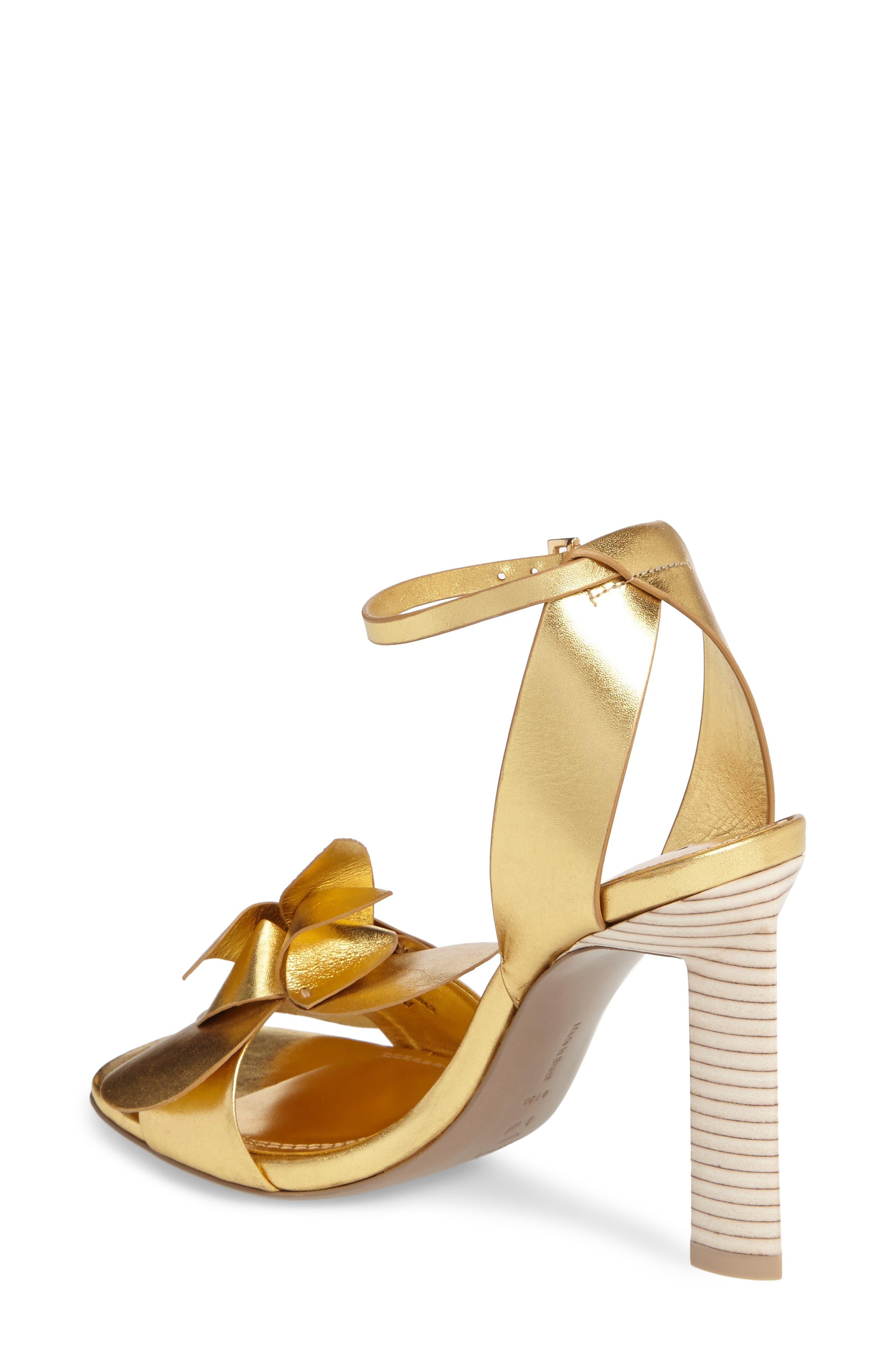Tealia Sandal,                             Alternate thumbnail 3, color,                             Gold Leather