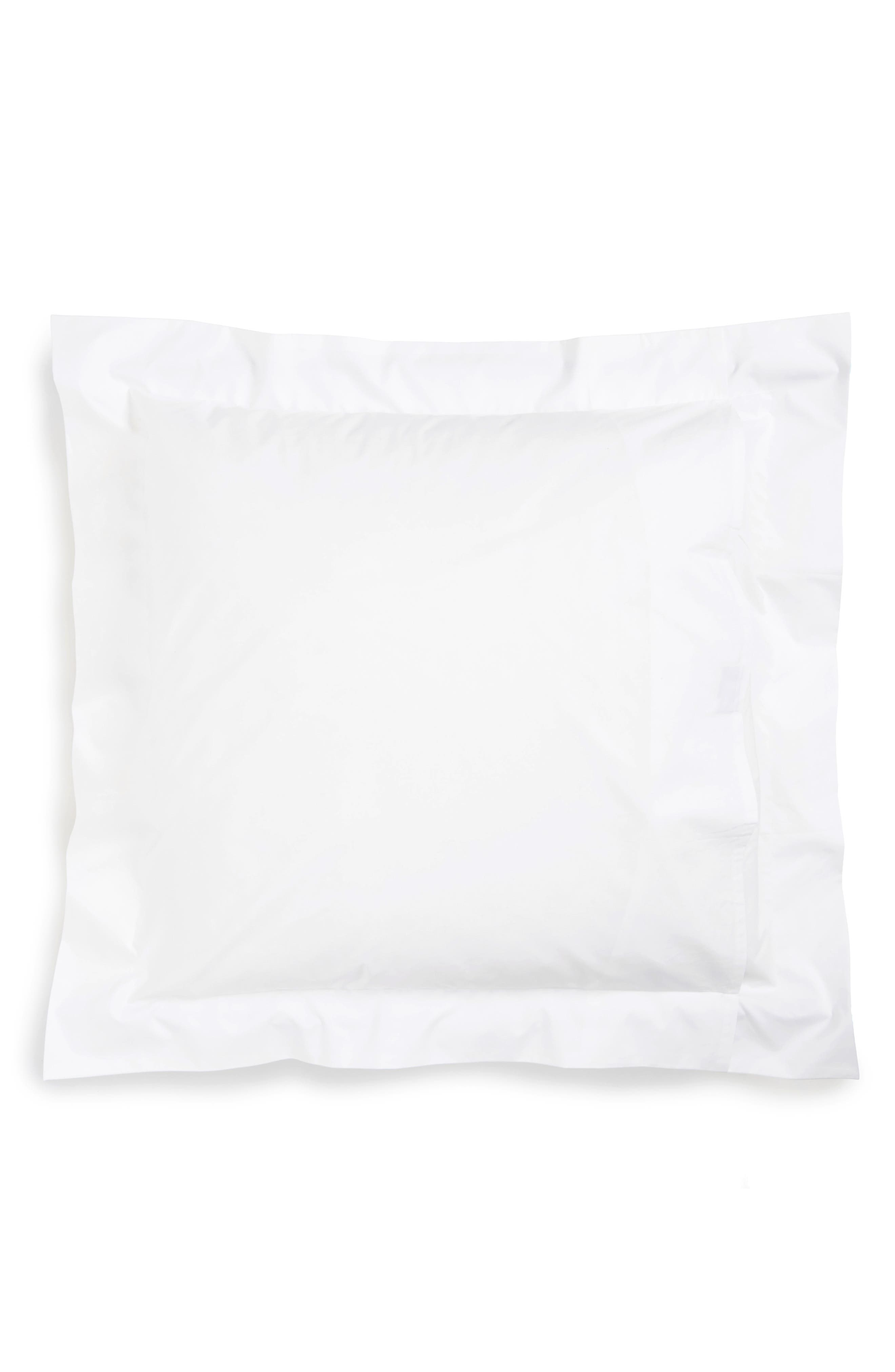 Lowell 600 Thread Count Euro Sham,                             Alternate thumbnail 2, color,                             Silver