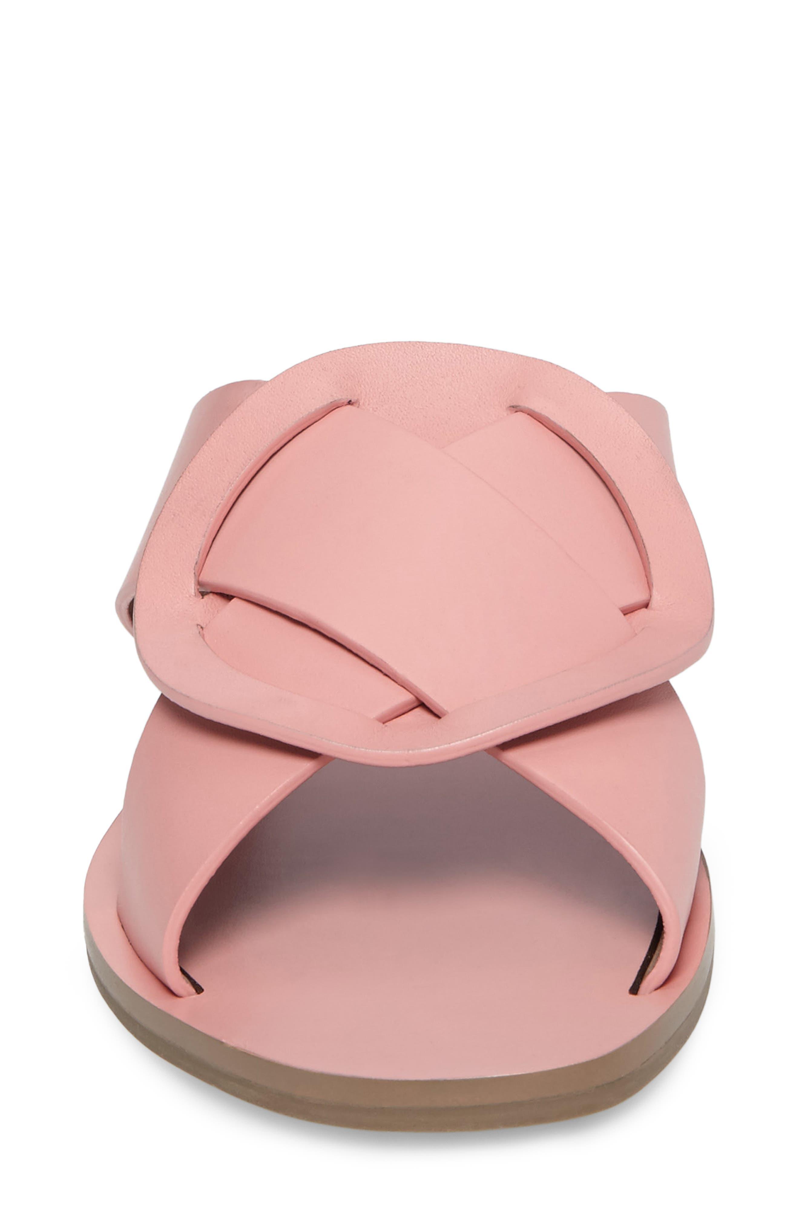 Carlein Slide Sandal,                             Alternate thumbnail 5, color,                             Pink Peony Leather
