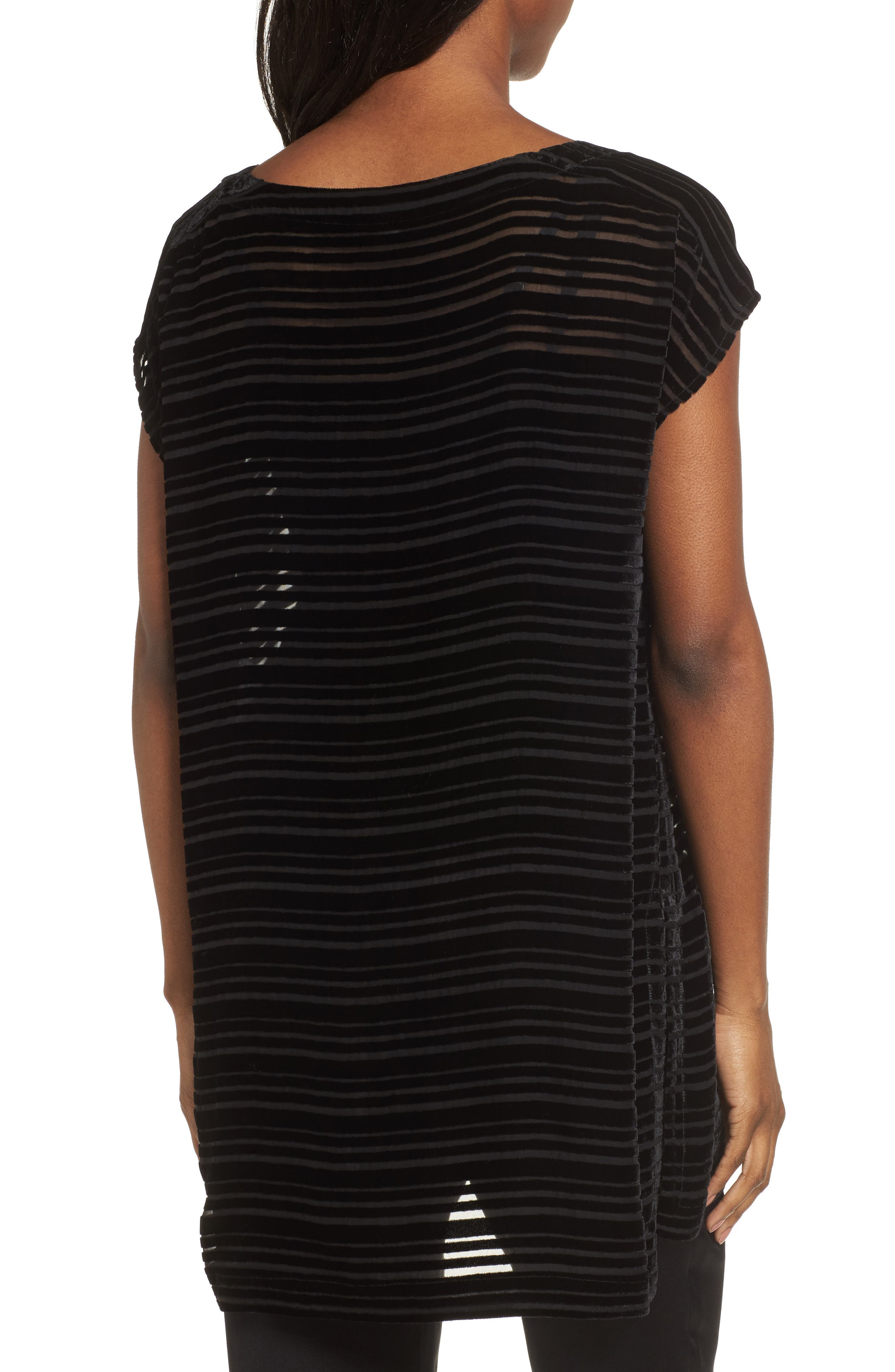 Alternate Image 2  - Eileen Fisher Velvet Stripe Burnout Tunic