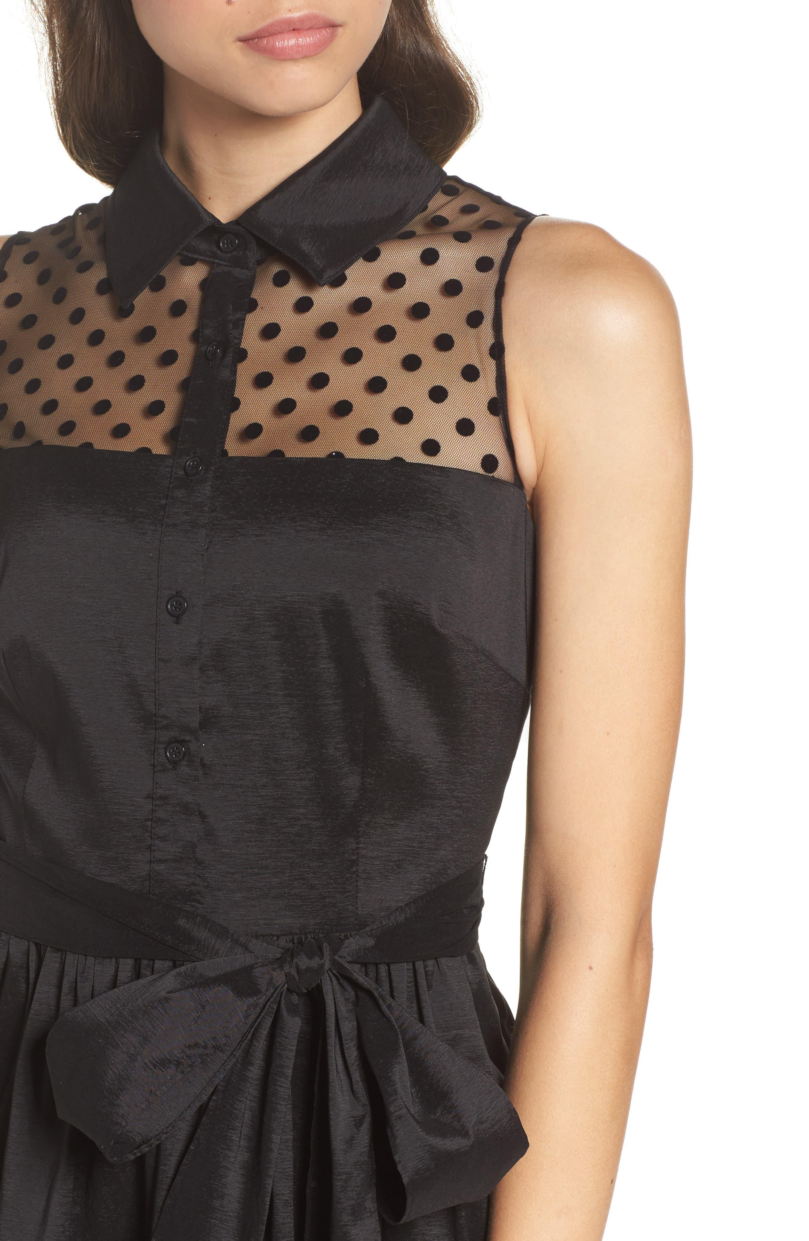 Alternate Image 4  - Eliza J Pleated Shirtdress