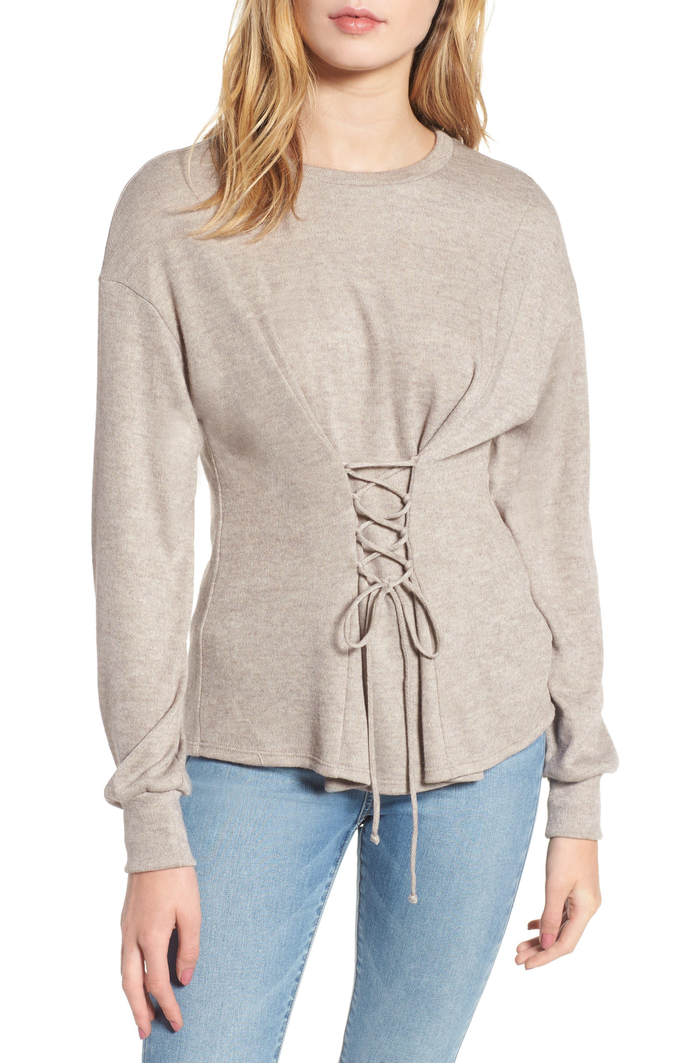 WAYF Ana Corset Sweatshirt