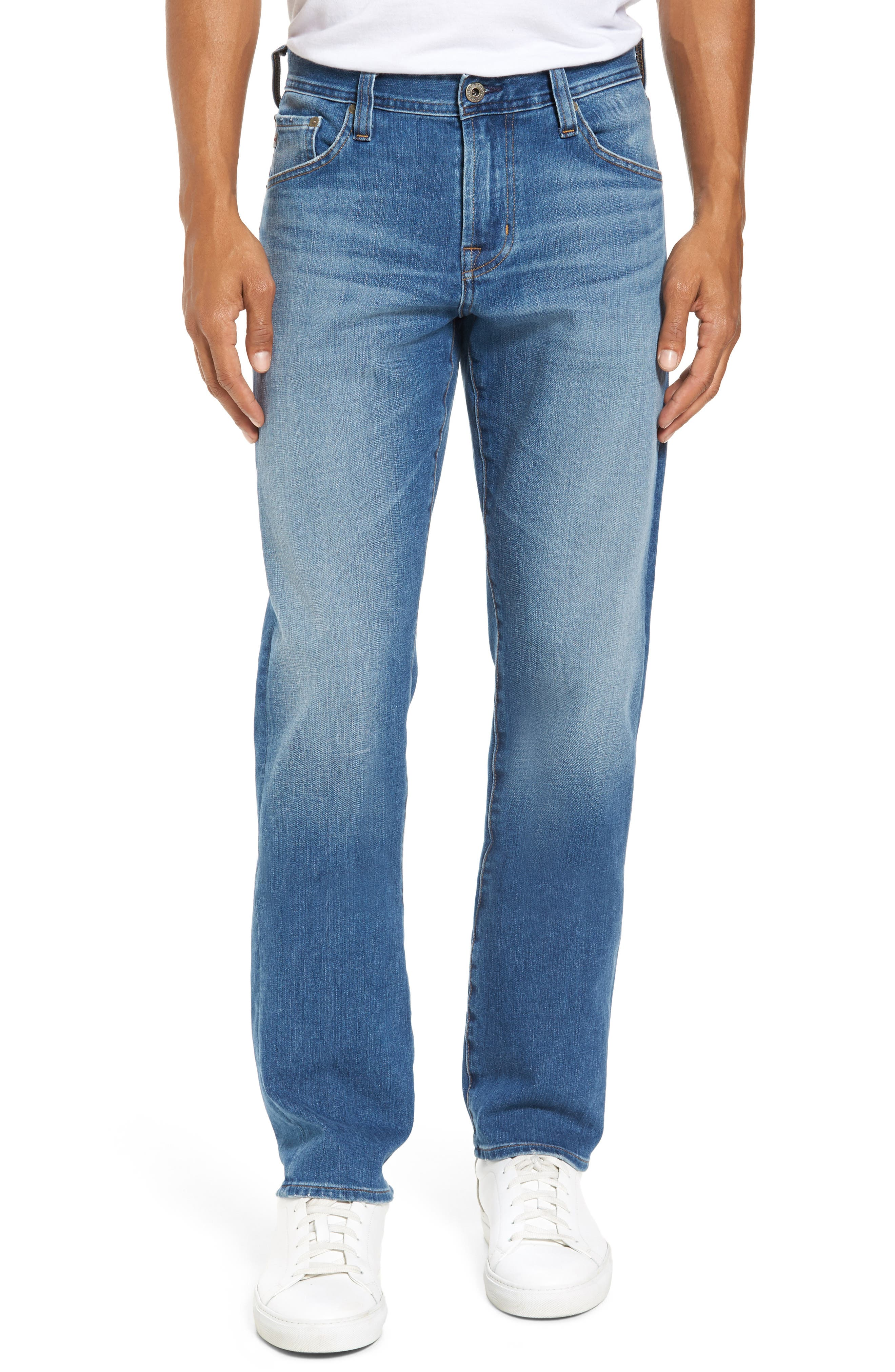 Alternate Image 1 Selected - AG Graduate Slim Straight Fit Jeans (Audition)