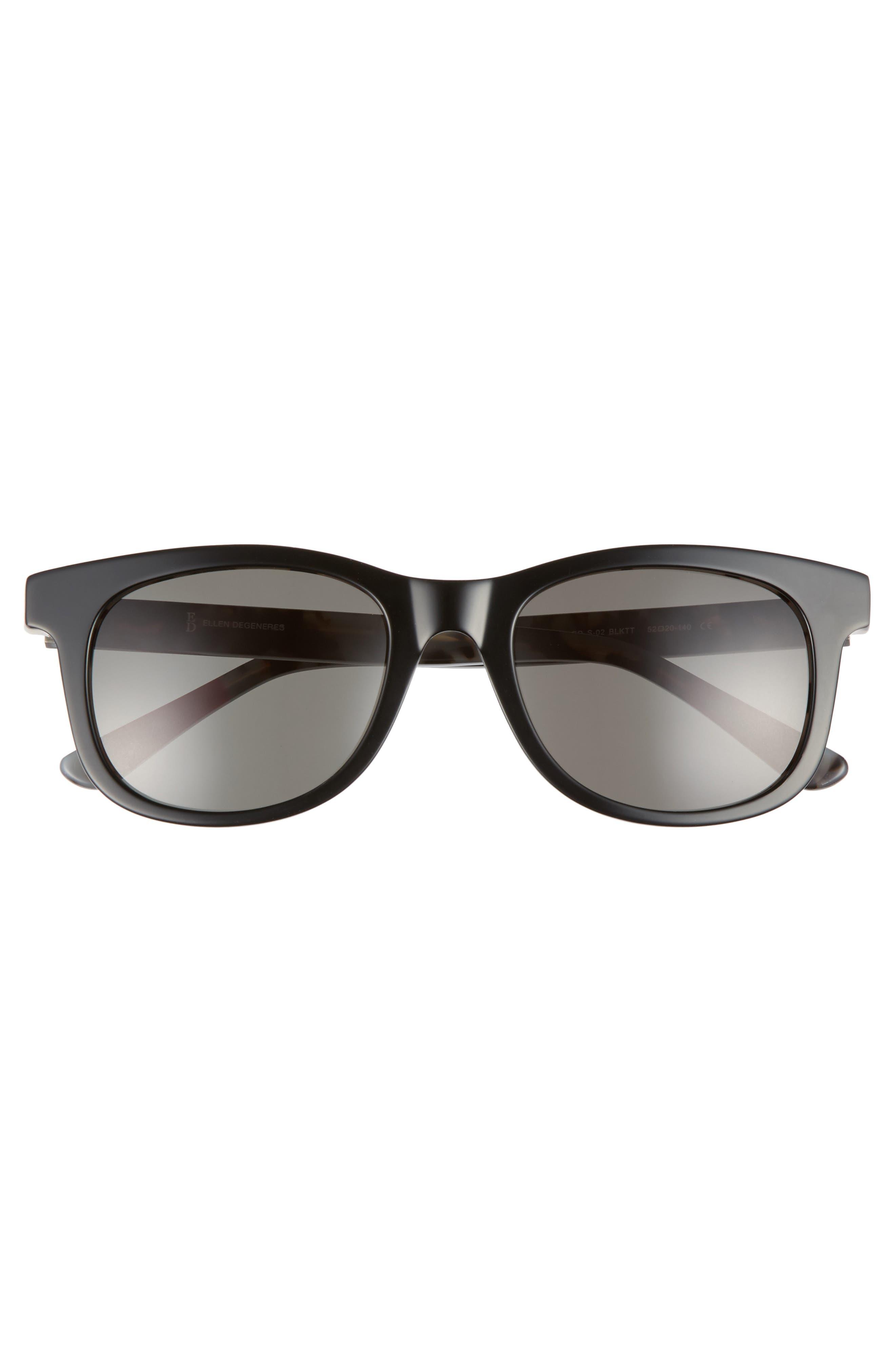 52mm Gradient Sunglasses,                             Alternate thumbnail 3, color,                             Black Tortoise