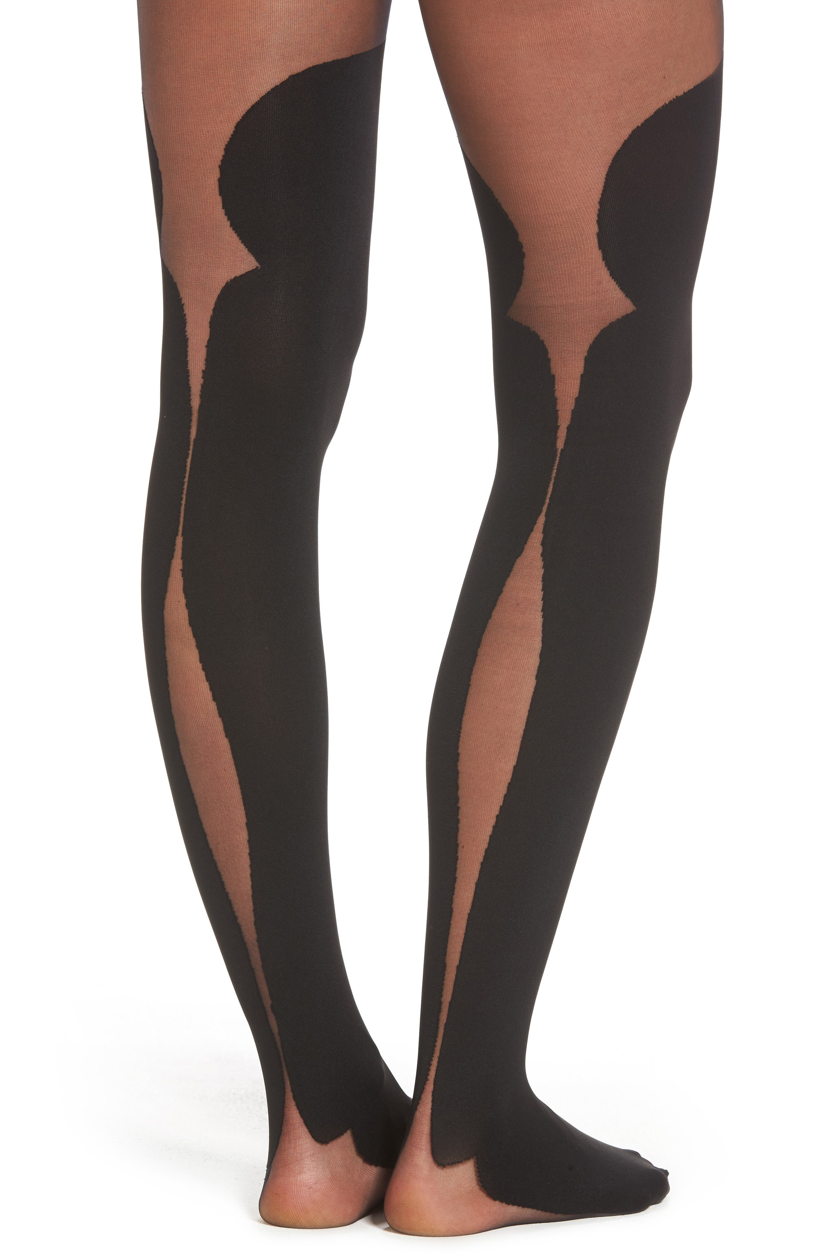 Madelyn Tights,                             Alternate thumbnail 2, color,                             Black/ Black