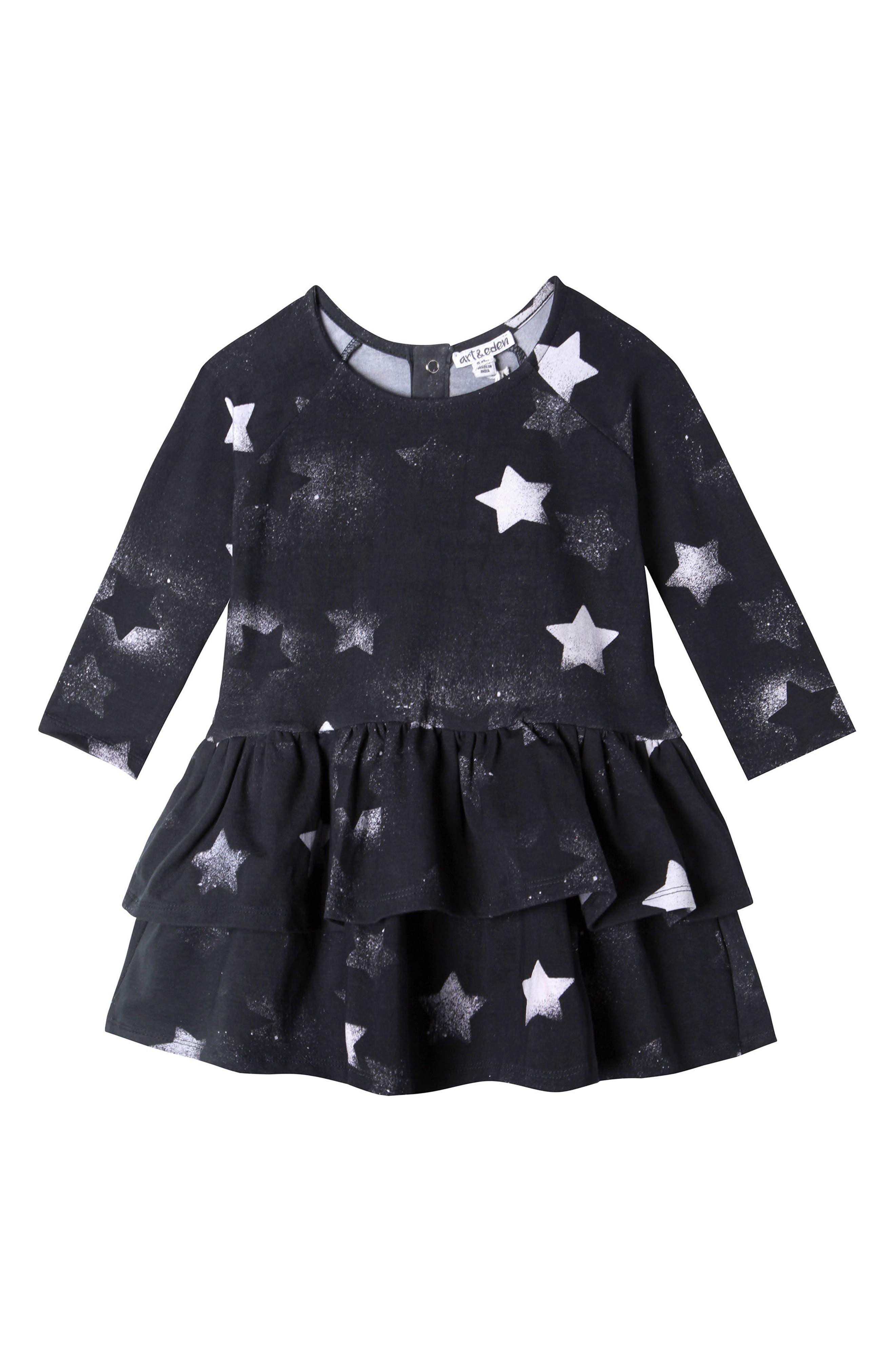 Mini Elizabeth Galaxy Dress,                         Main,                         color, Black