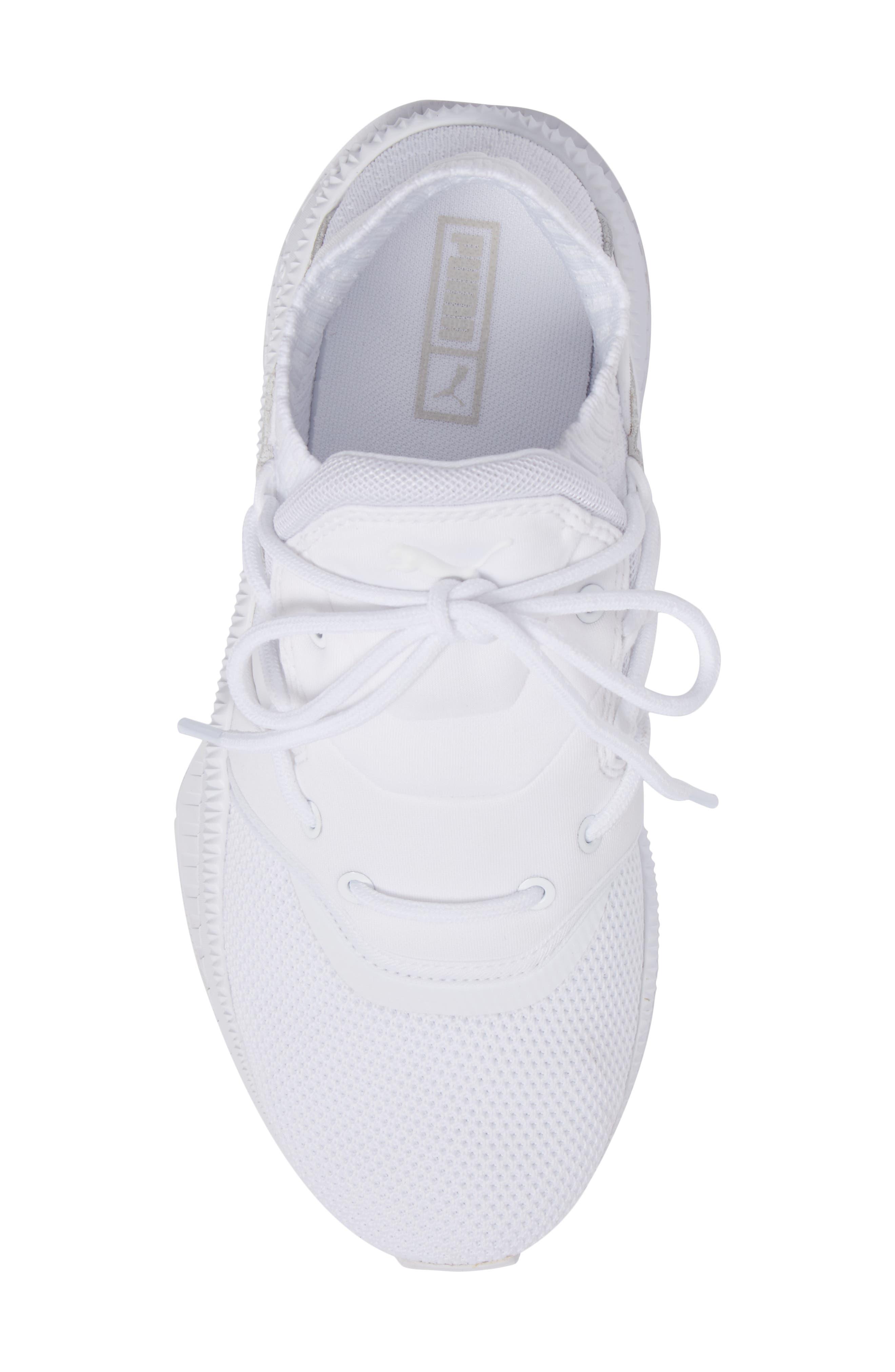 Tsugi Shinsei Jr Training Shoe,                             Alternate thumbnail 4, color,                             White