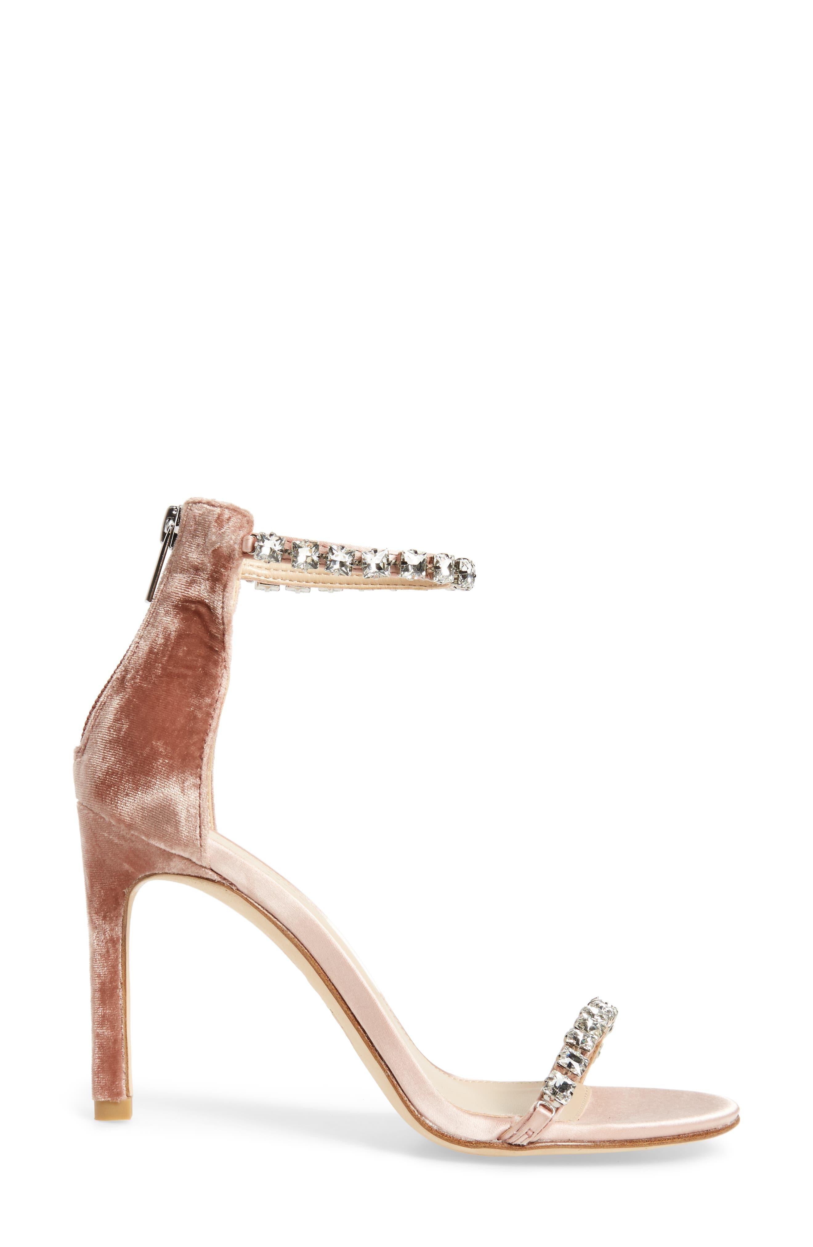 Frisk Embellished Sandal,                             Alternate thumbnail 3, color,                             Blush