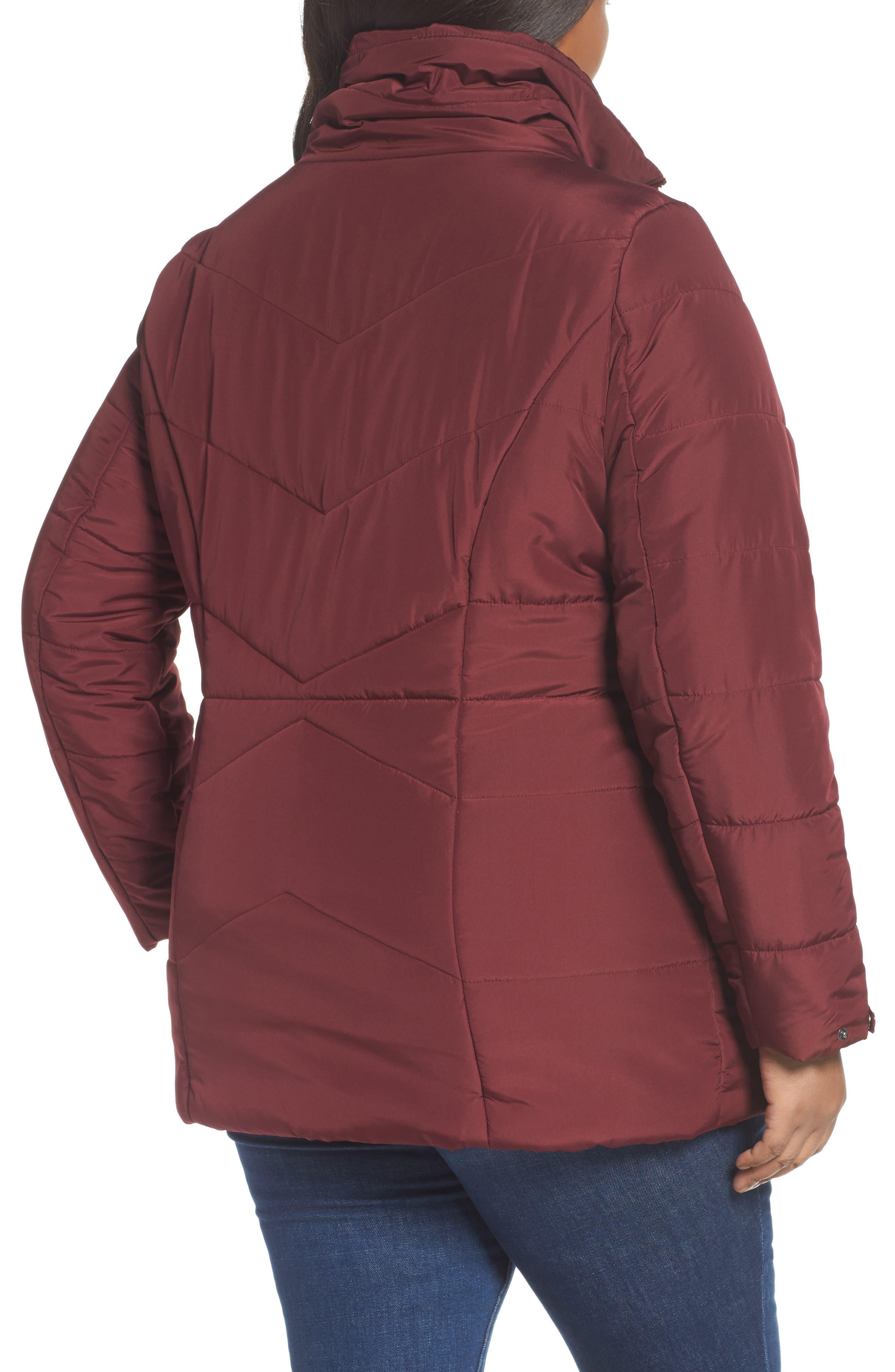 Alternate Image 2  - JUNAROSE Valsi Puffer Jacket (Plus Size)