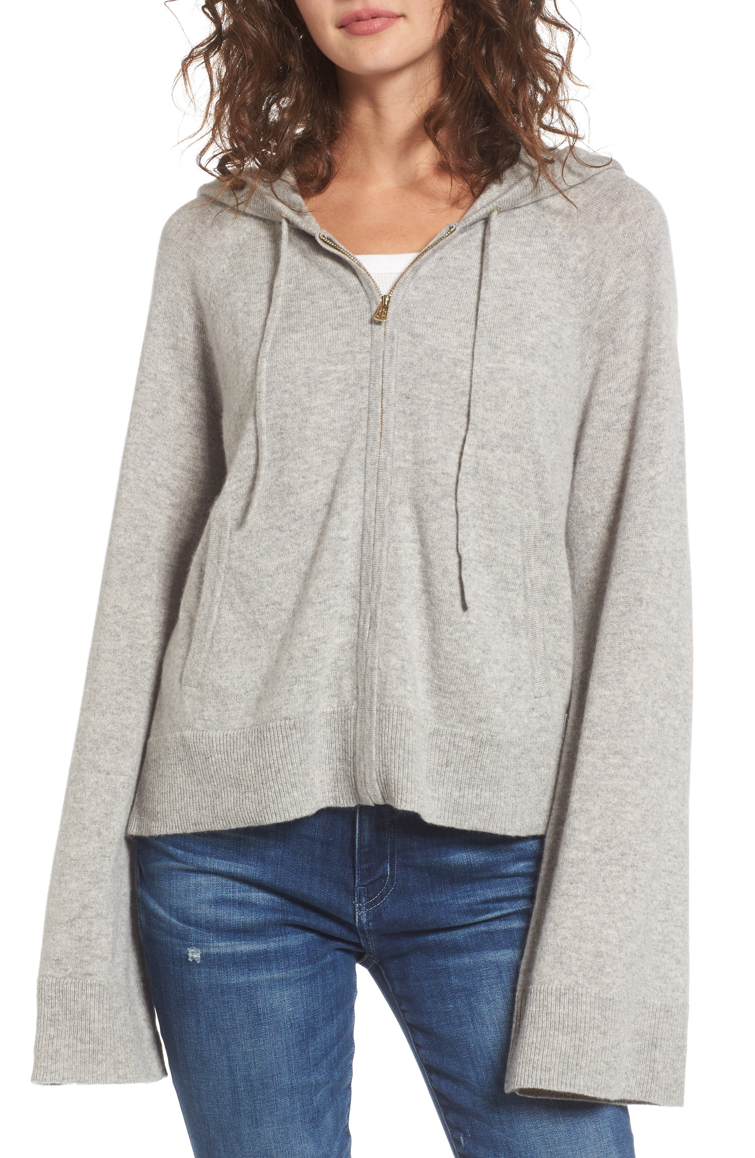 Juicy Couture Cashmere Bell Sleeve Hoodie