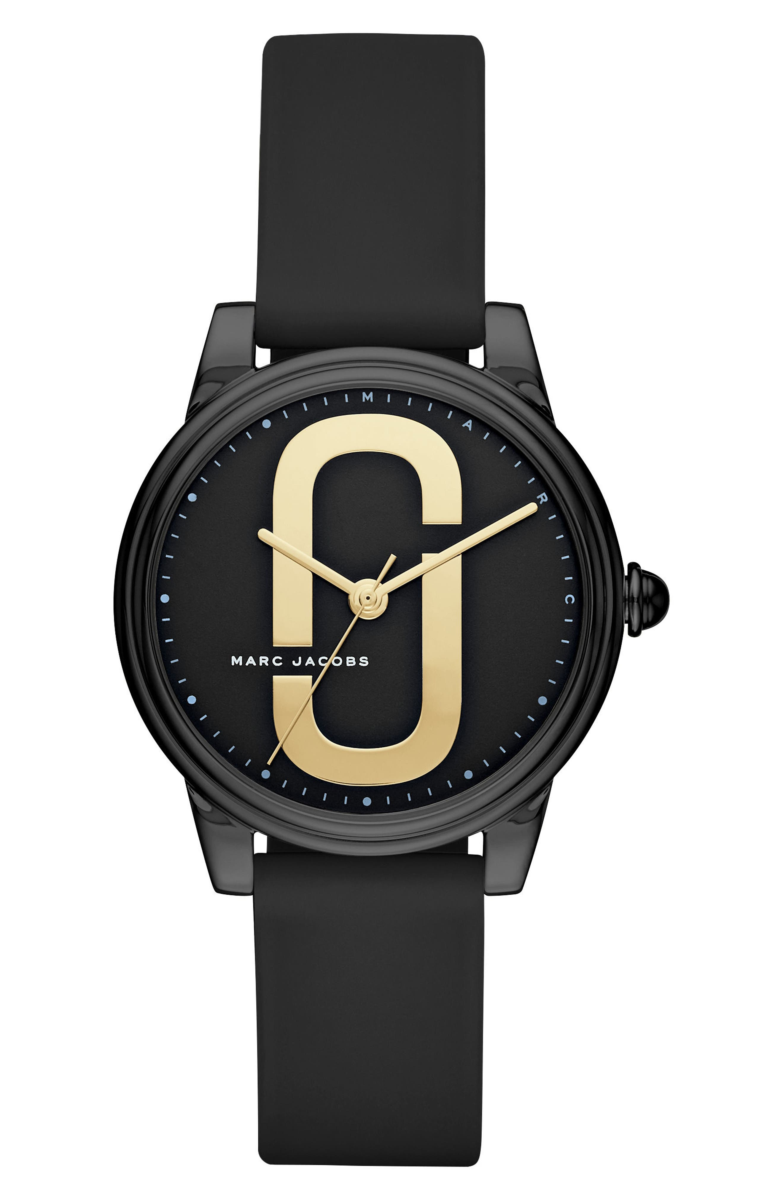 MARC JACOBS Corie Silicone Strap Watch, 36mm