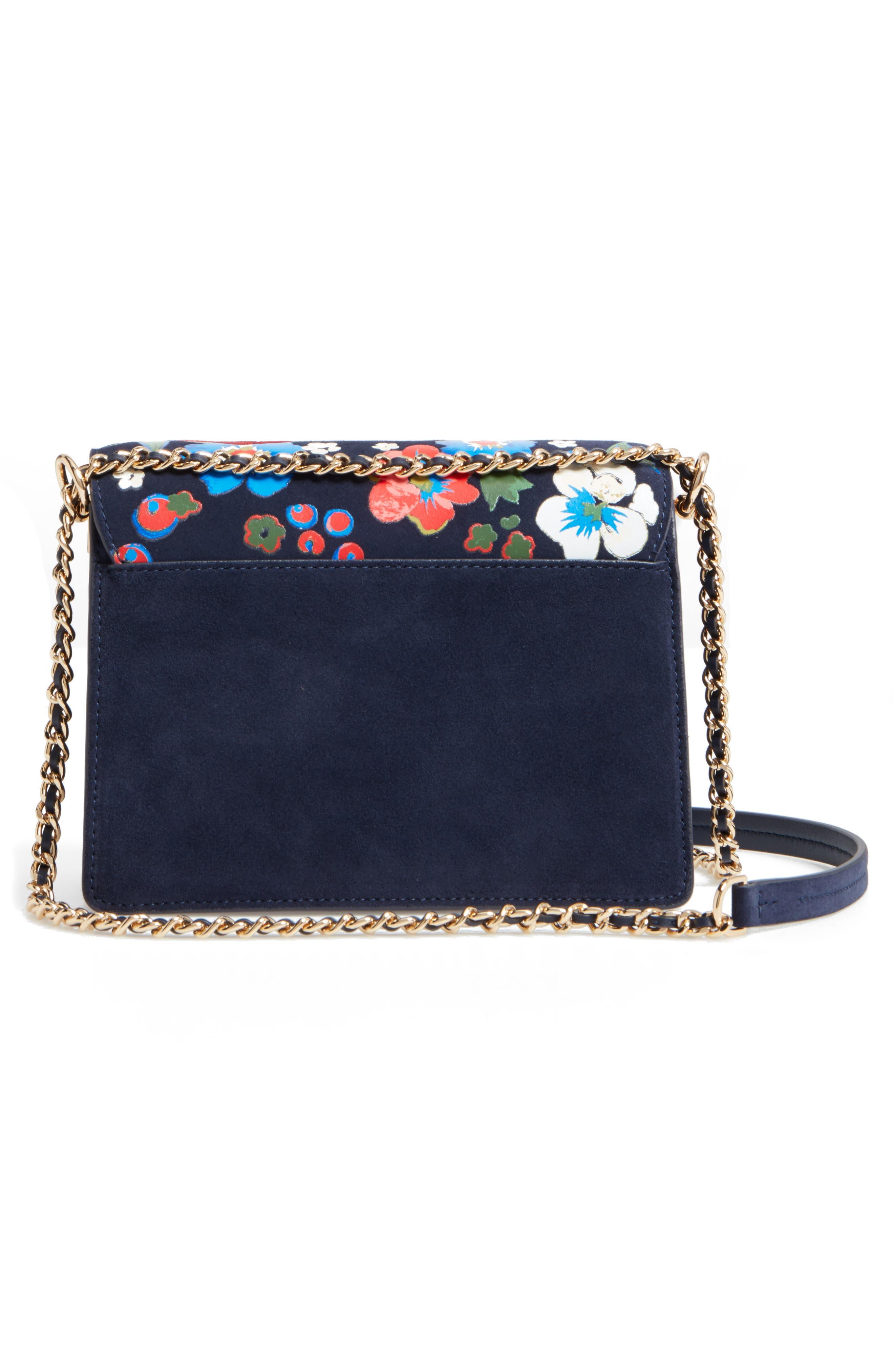 Alternate Image 2  - Tory Burch Parker Flower Embroidered Leather Shoulder/Crossbody Bag