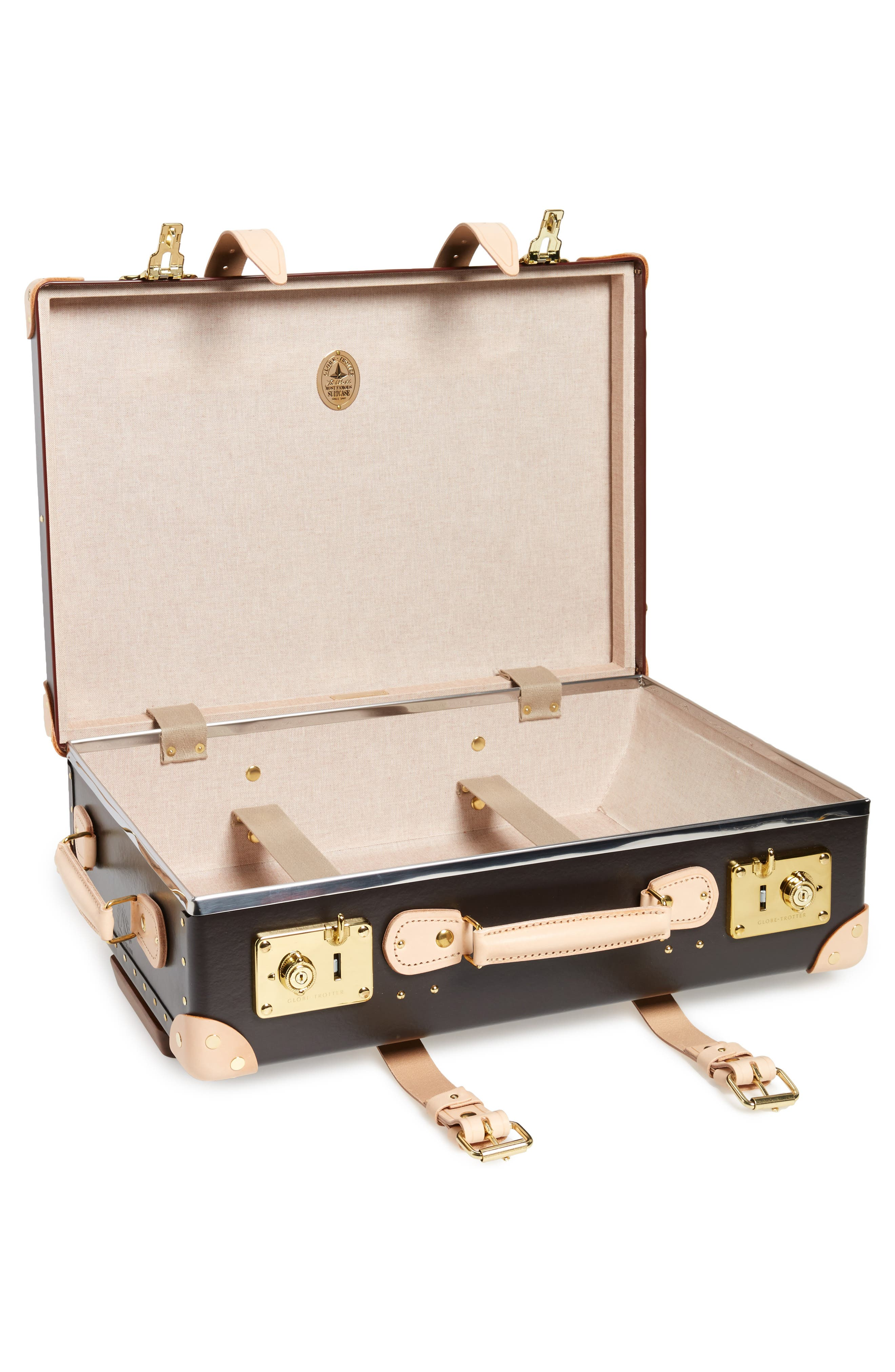 Safari 21-Inch Hardshell Trolley Travel Case,                             Alternate thumbnail 2, color,                             Colonial/Natural