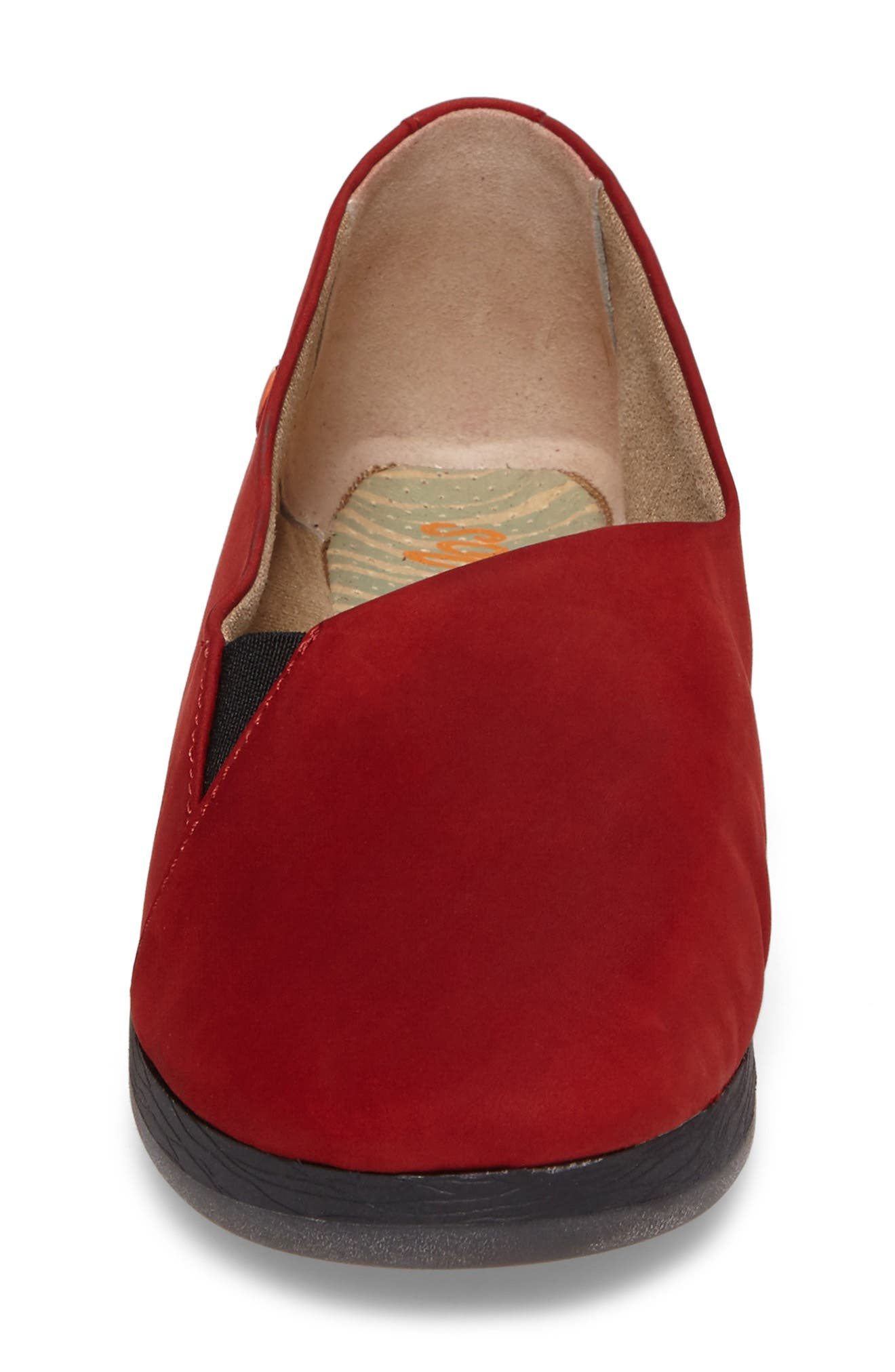 Ako Slip-On,                             Alternate thumbnail 4, color,                             Red Nubuck Leather