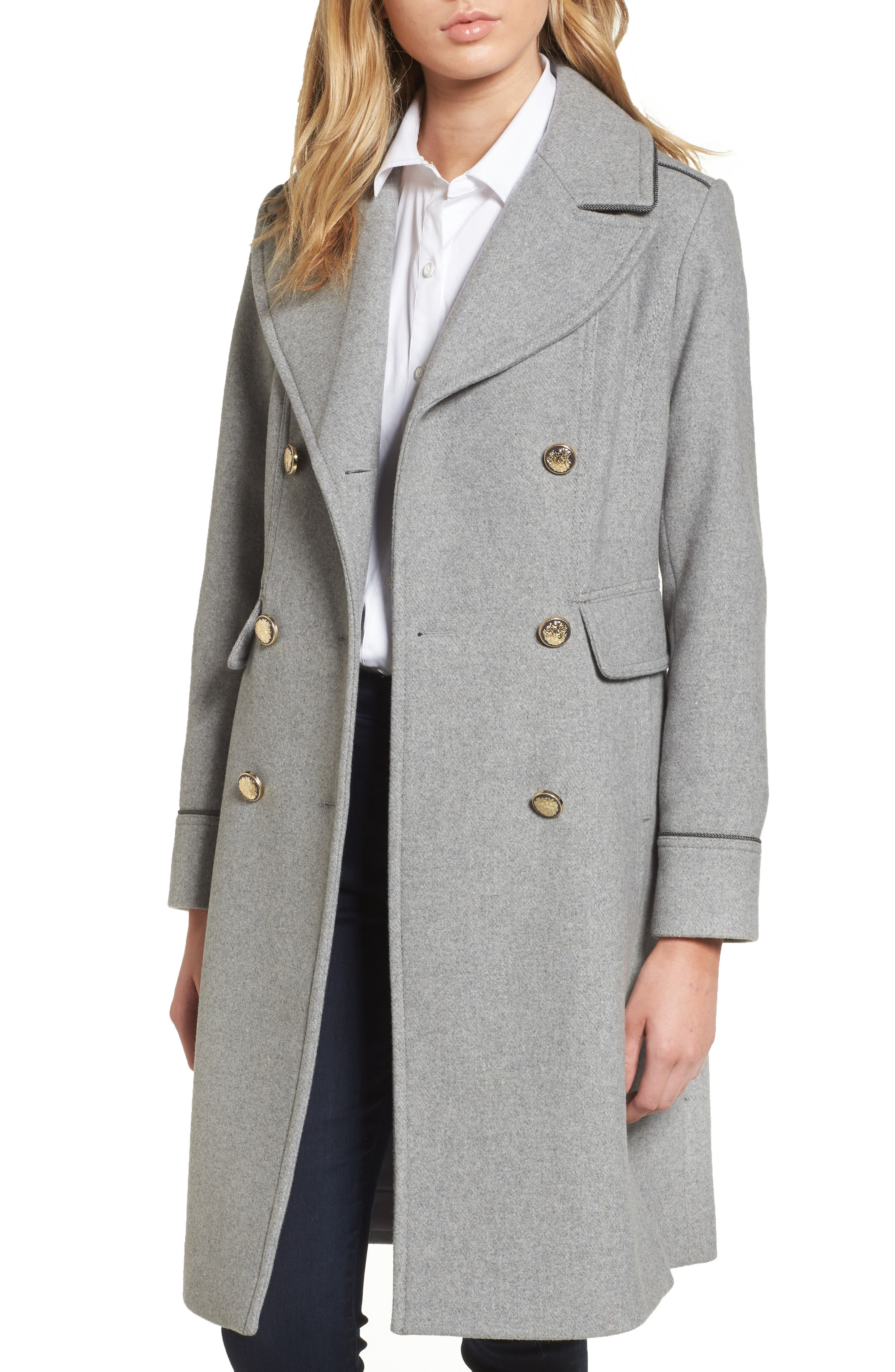 Vince Camuto Double Breasted Utility Coat