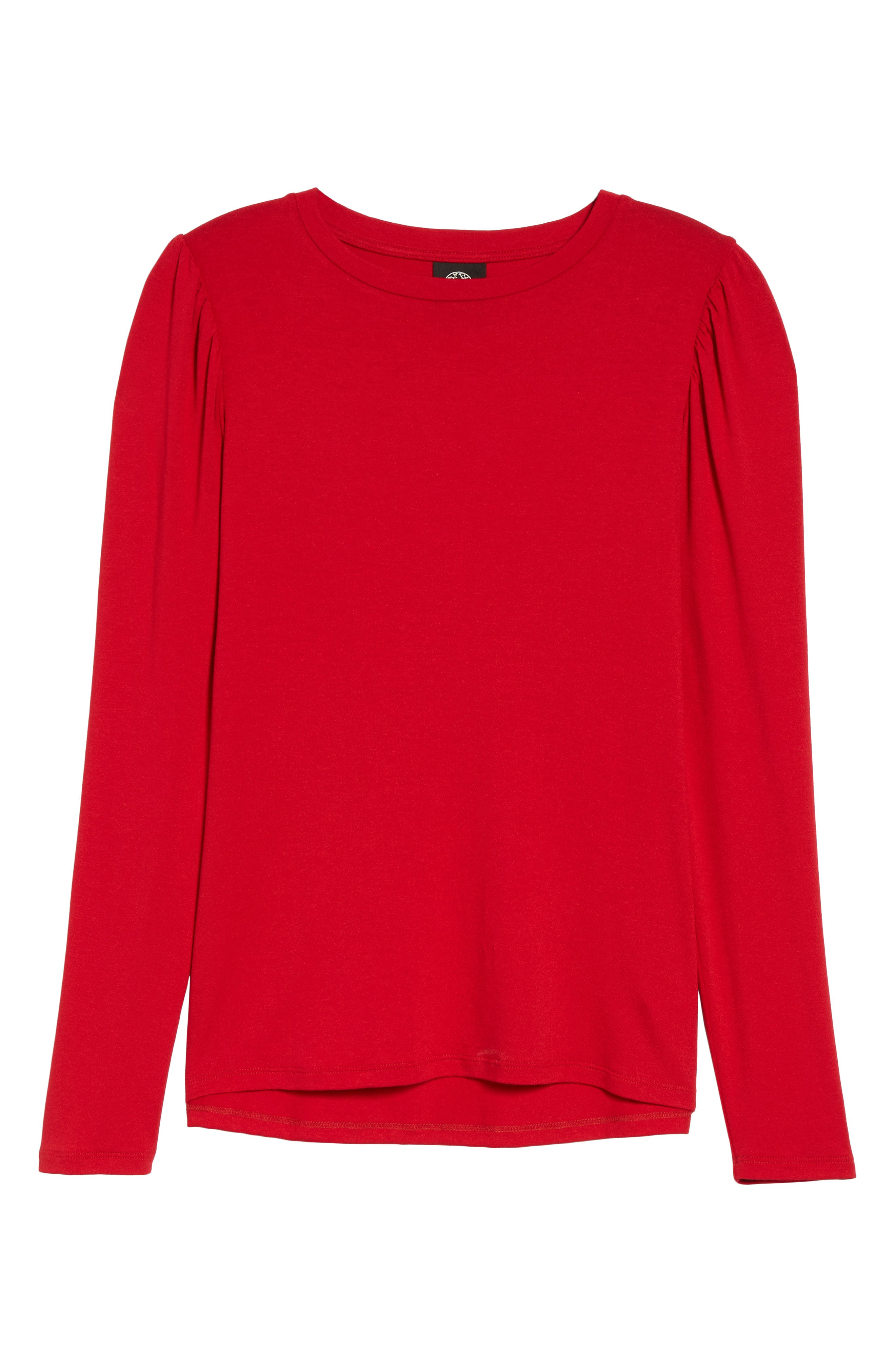 Bishop Knit Top,                             Alternate thumbnail 6, color,                             Red Chili