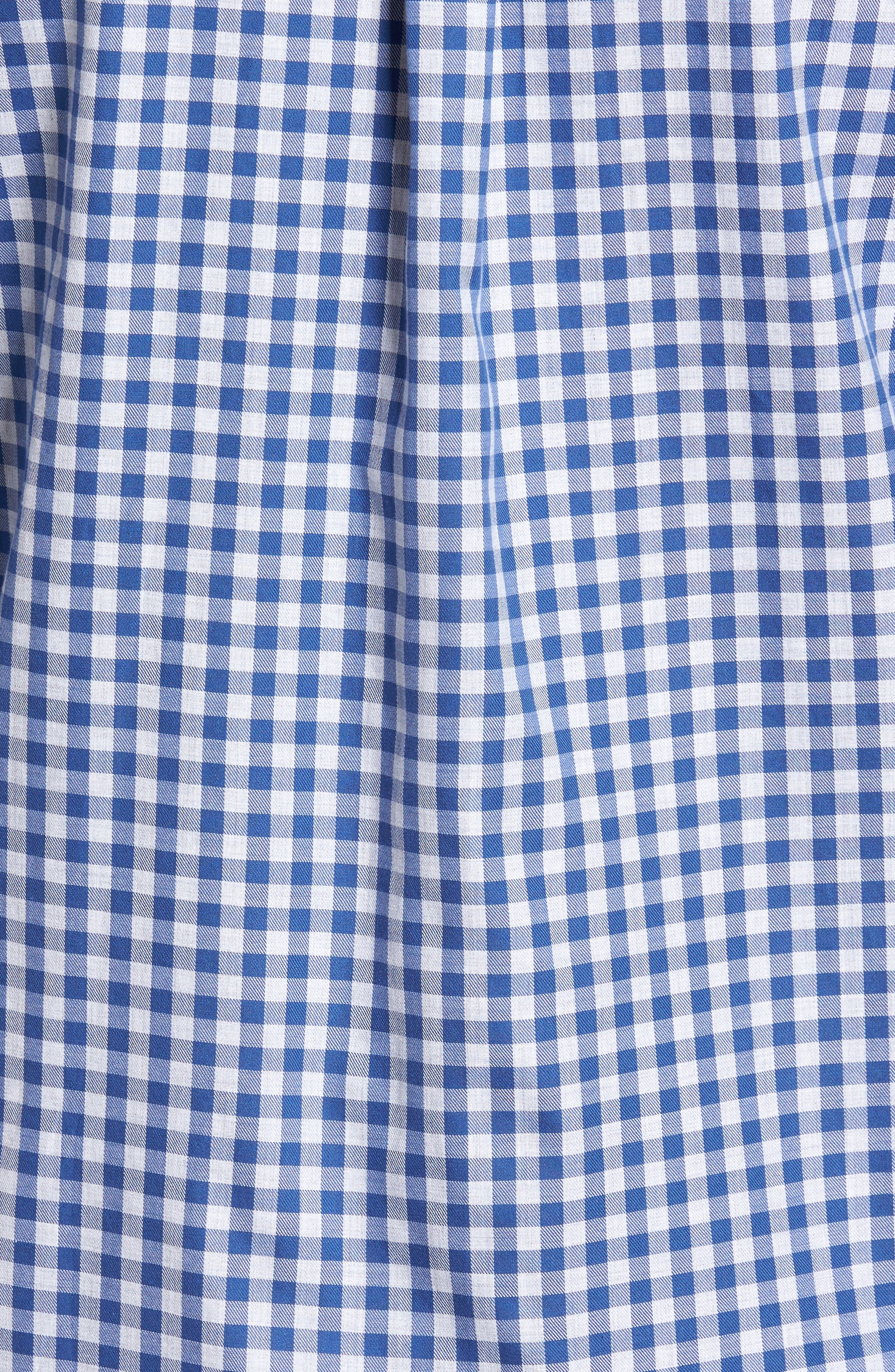 Classic Fit Tucker Cliff Gingham Sport Shirt,                             Alternate thumbnail 5, color,                             Moonshine