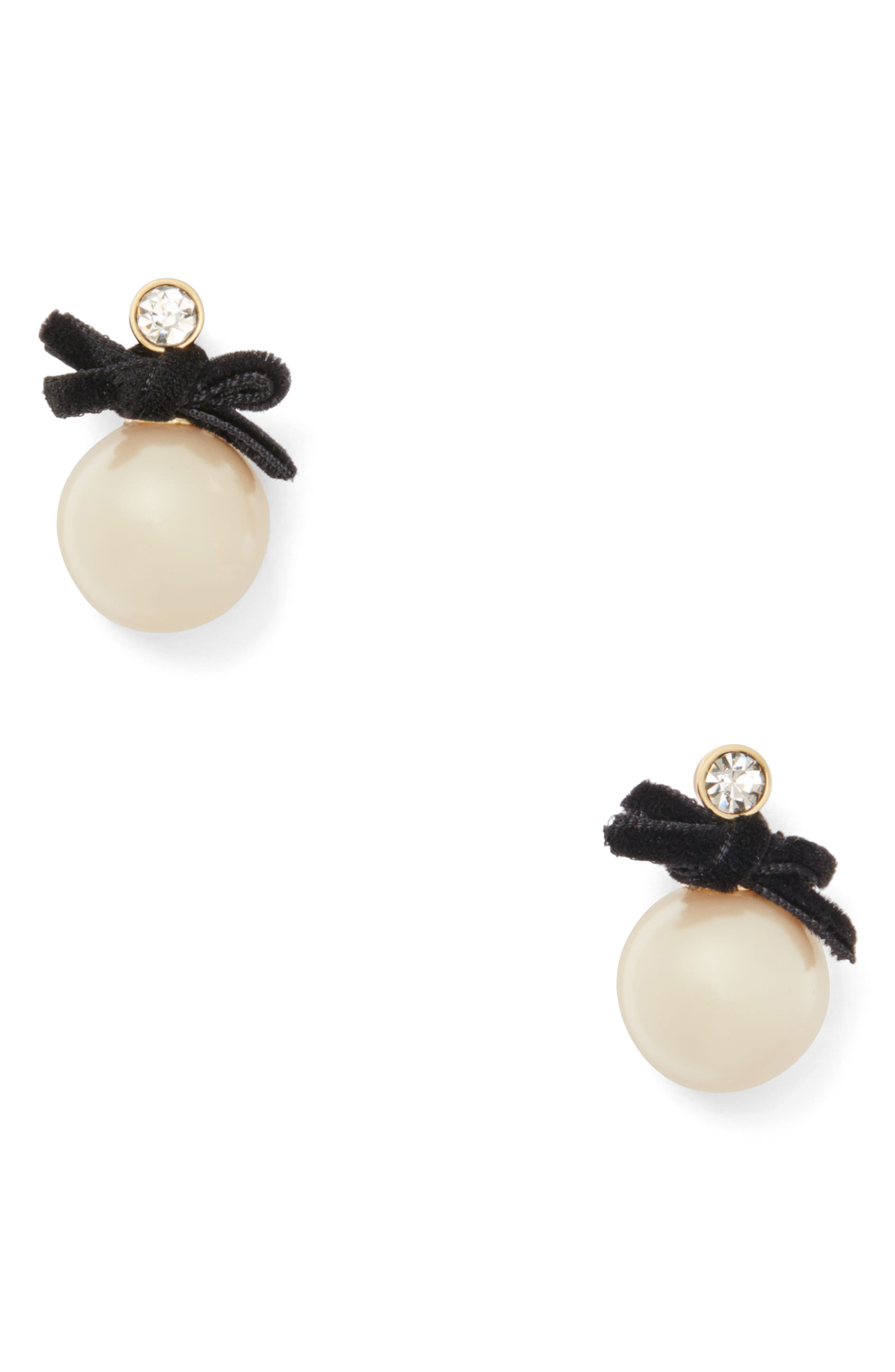 KATE SPADE NEW YORK girls in pearls imitation pearl drop earrings