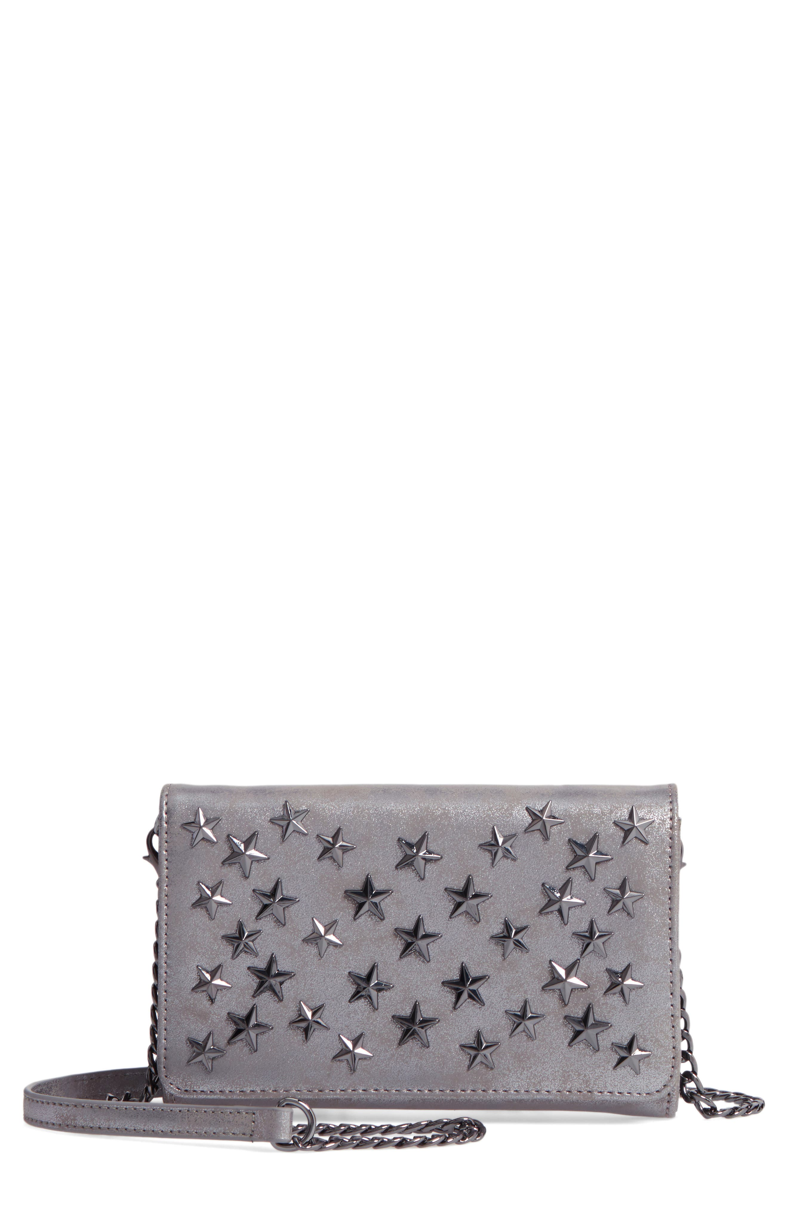 Main Image - Chelsea28 Alexa Stars Faux Leather Wallet on a Chain