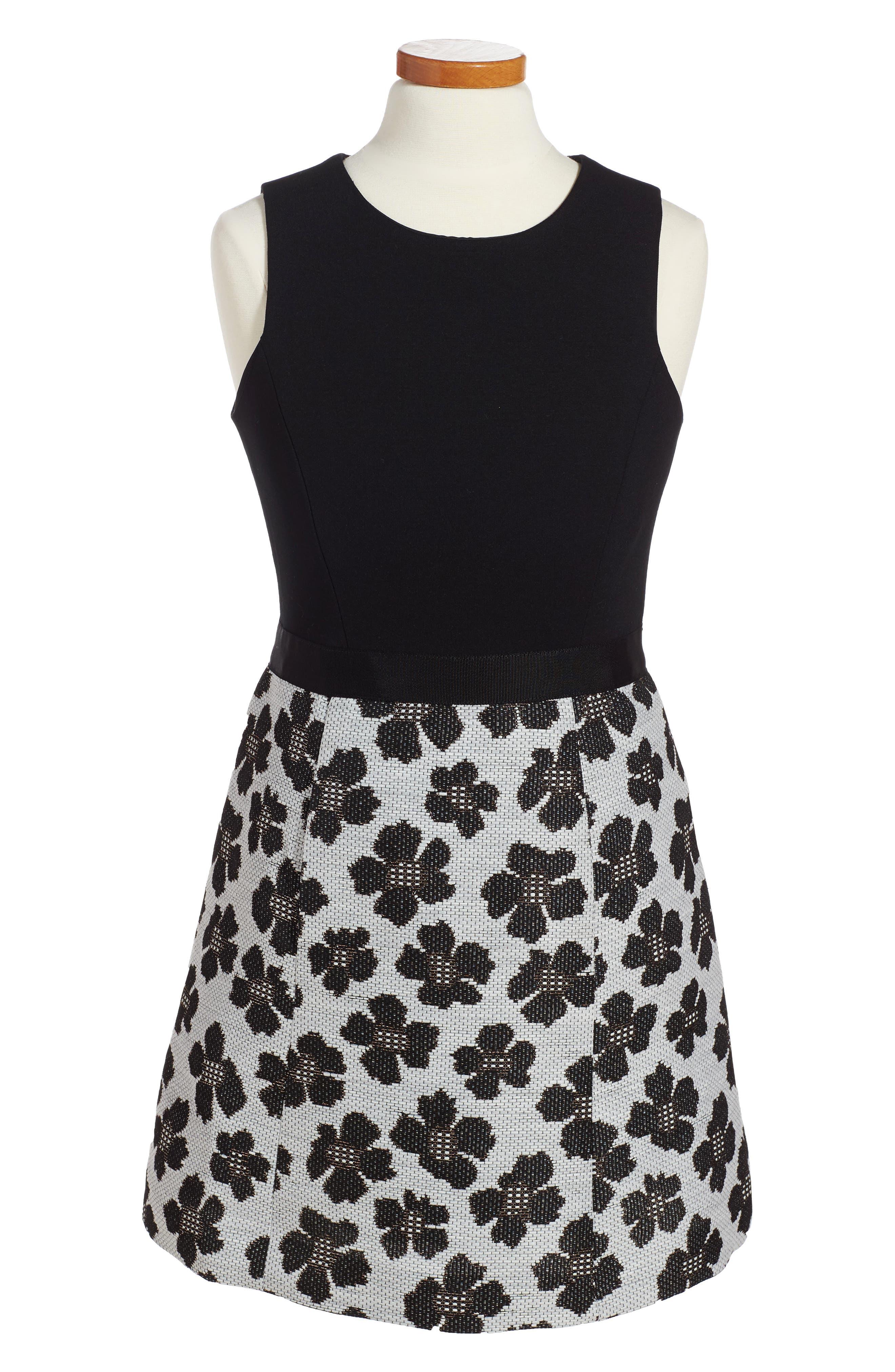 Main Image - Milly Minis Floral Jacquard Dress (Toddler Girls, Little Girls & Big Girls)